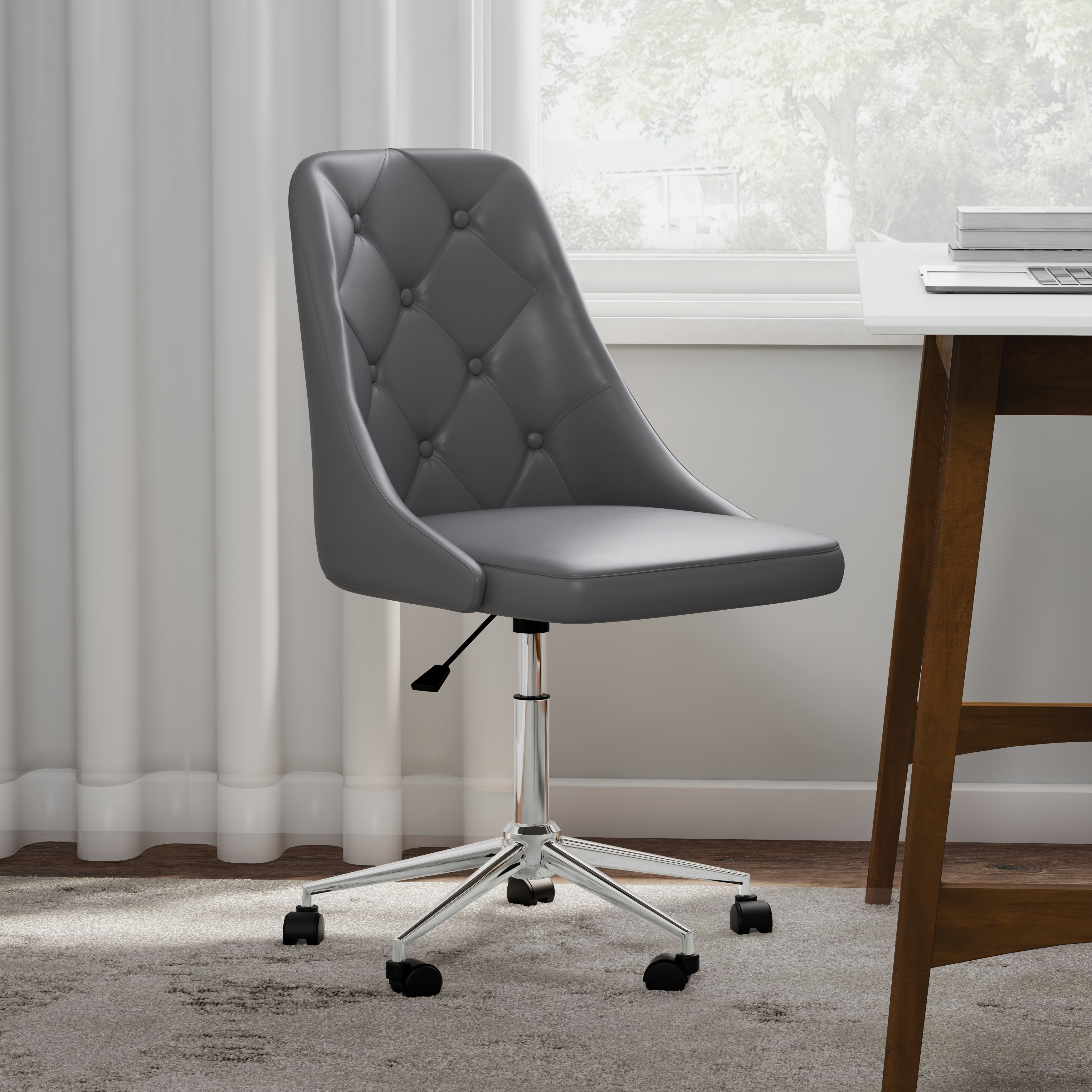 Carson Carrington Ockelbo On Tufted Faux Leather Office Chair Free Shipping Today 20543644