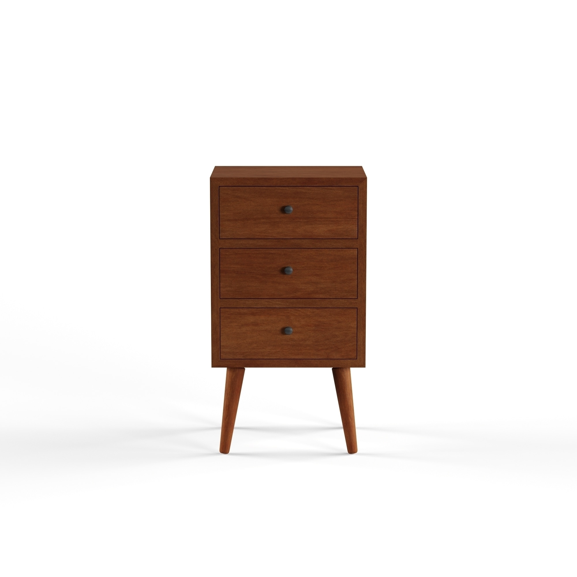 Carson Carrington Linkoping Mid Century 3 Drawer Wood Side Table On Free Shipping Today 20543721