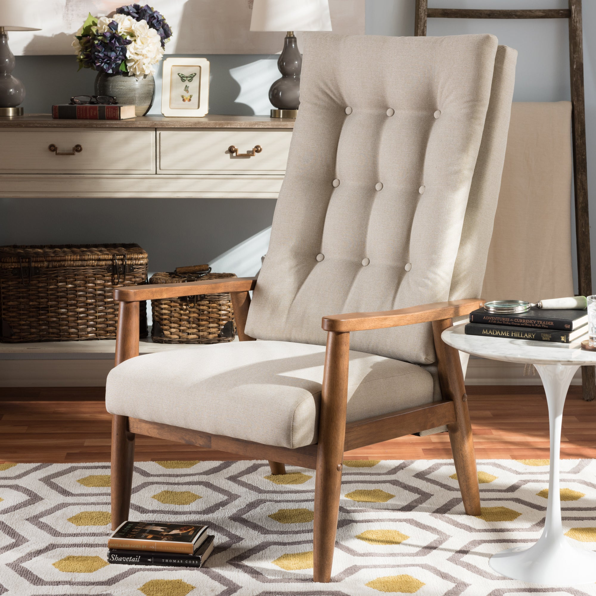 Shop carson carrington forssa mid century modern button tufted high back chair ships to canada overstock ca 20543767