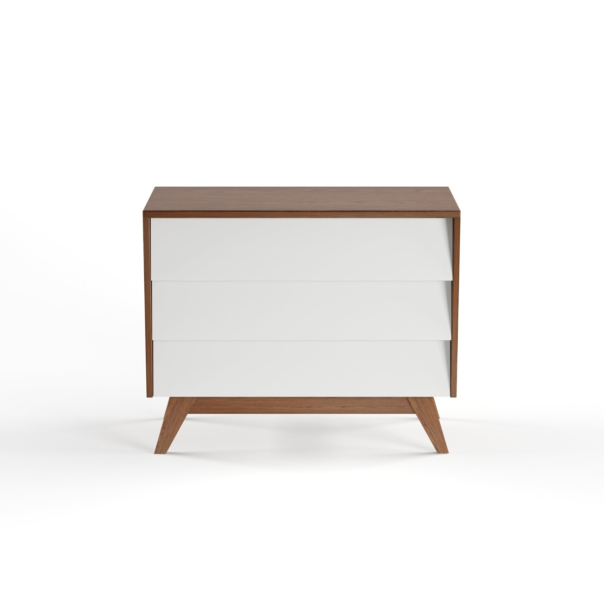 Shop Mid Century White And Brown Dresser By Baxton Studio Free