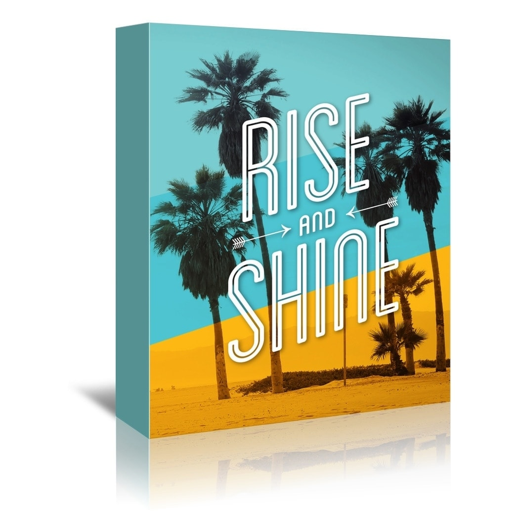 Shop Americanflat \'Rise And Shine Beach\' Gallery Wrapped Canvas ...