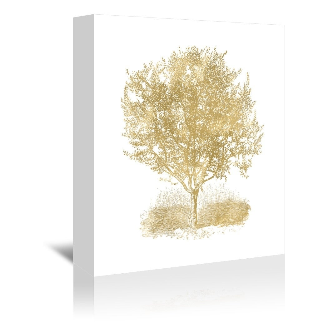 Americanflat \'Olive Tree Gold On White\' Gallery Wrapped Canvas ...
