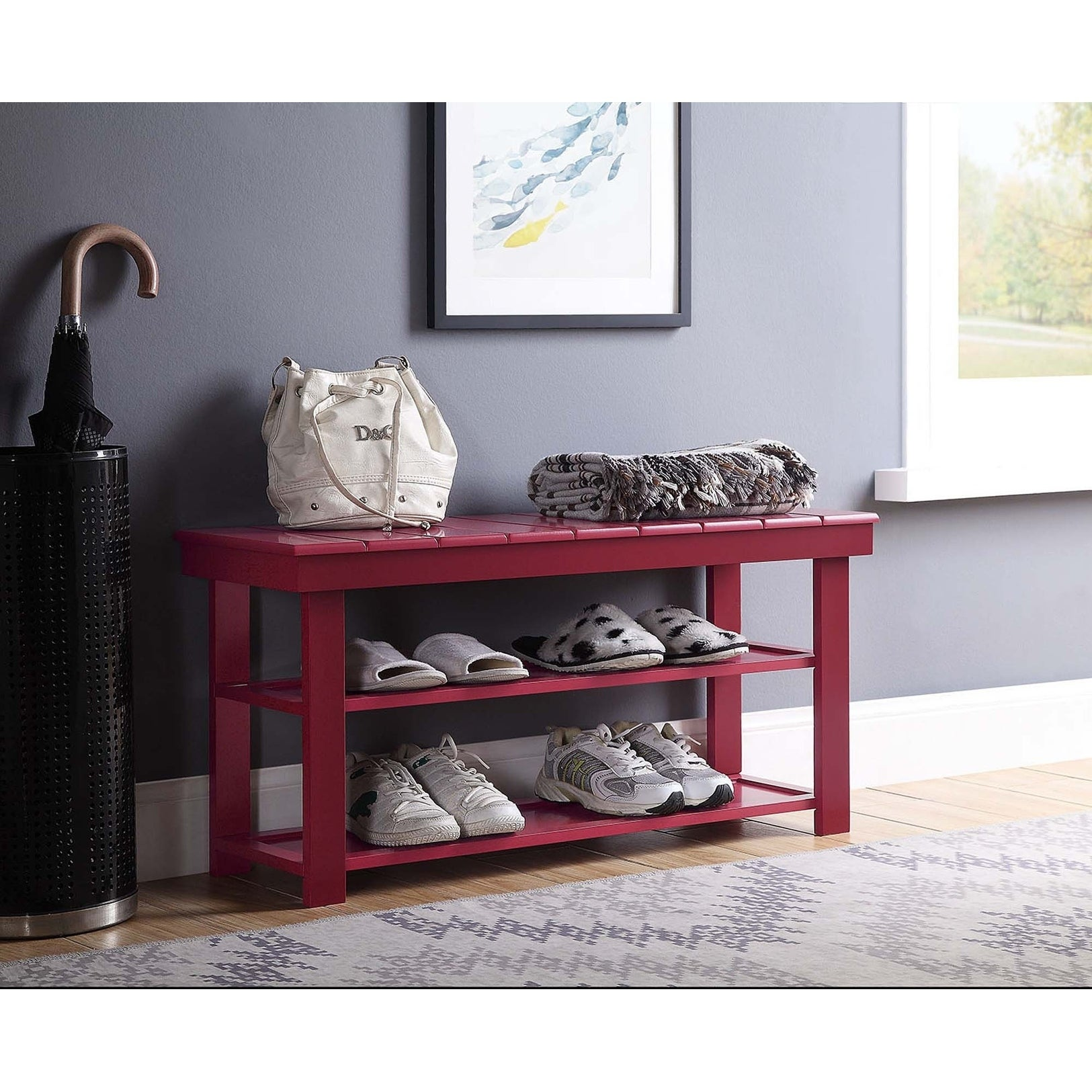 Porch Den Naomi Mudroom Shoe Storage Bench On Free Shipping Today 20559142