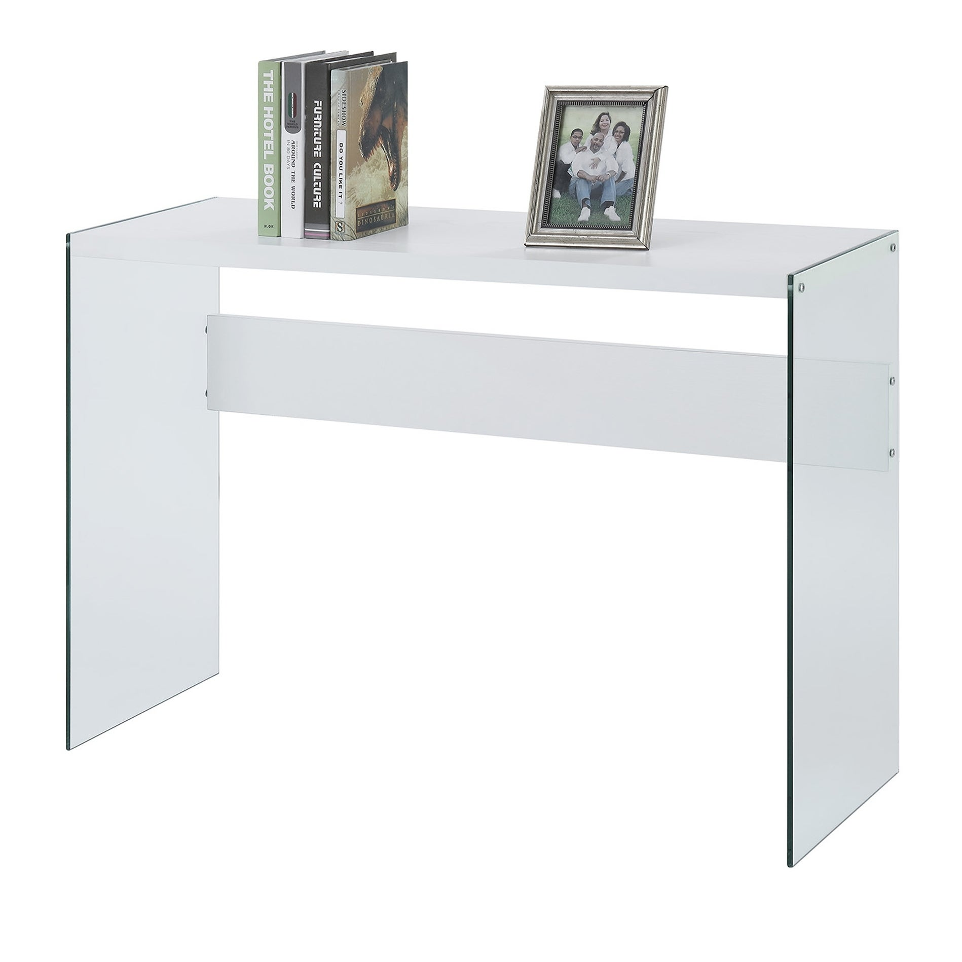 Convenience Concepts Soho Wood Glass Console Table  Free Shipping