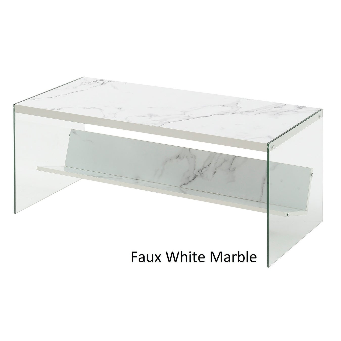 Shop Porch Den Urqhuart Wood Glass Coffee Table On Sale Free