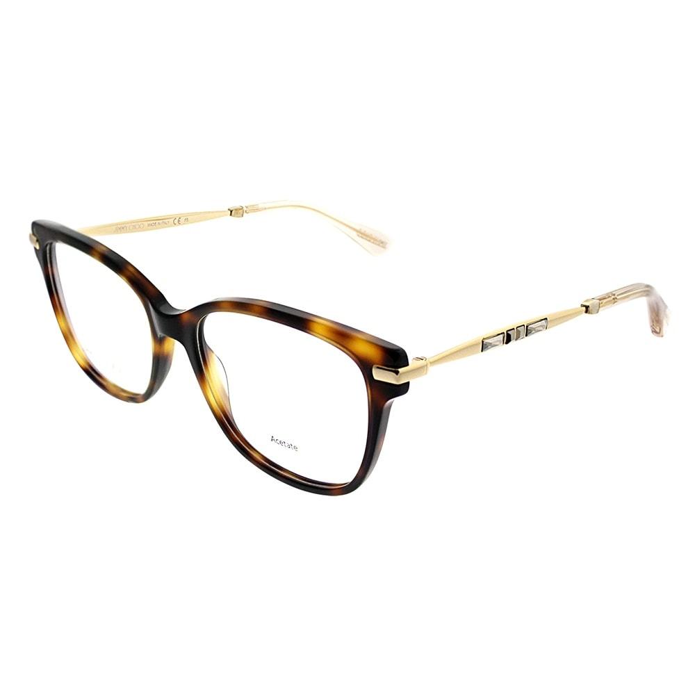 9e6ddde94e Shop Jimmy Choo Cat-Eye JC 181 14B Women Havana Rose Gold Frame Eyeglasses  - Free Shipping Today - Overstock - 20562438