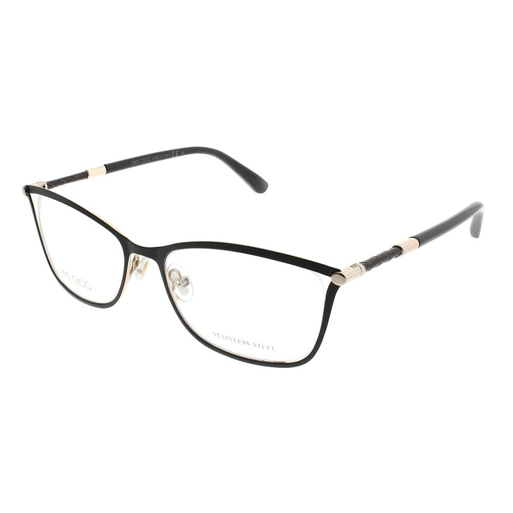60b76418e9 Shop Jimmy Choo Rectangle JC 134 J6H Women Matte Black Frame Eyeglasses - Free  Shipping Today - Overstock - 20562442