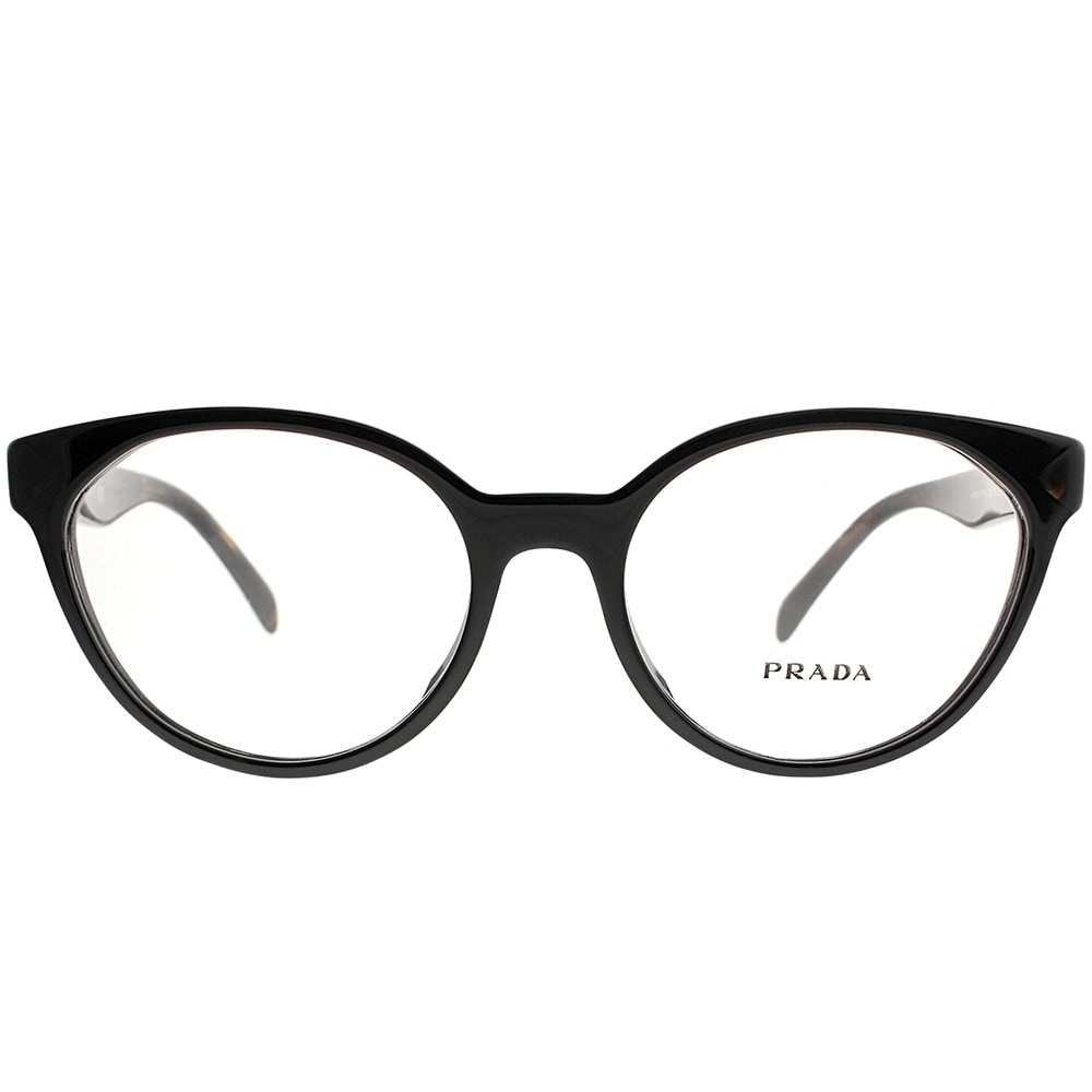 eeb7b628c0e Shop Prada Cat-Eye PR 01TVF 1AB1O1 Women Black Frame Eyeglasses - Free  Shipping Today - Overstock - 20562473