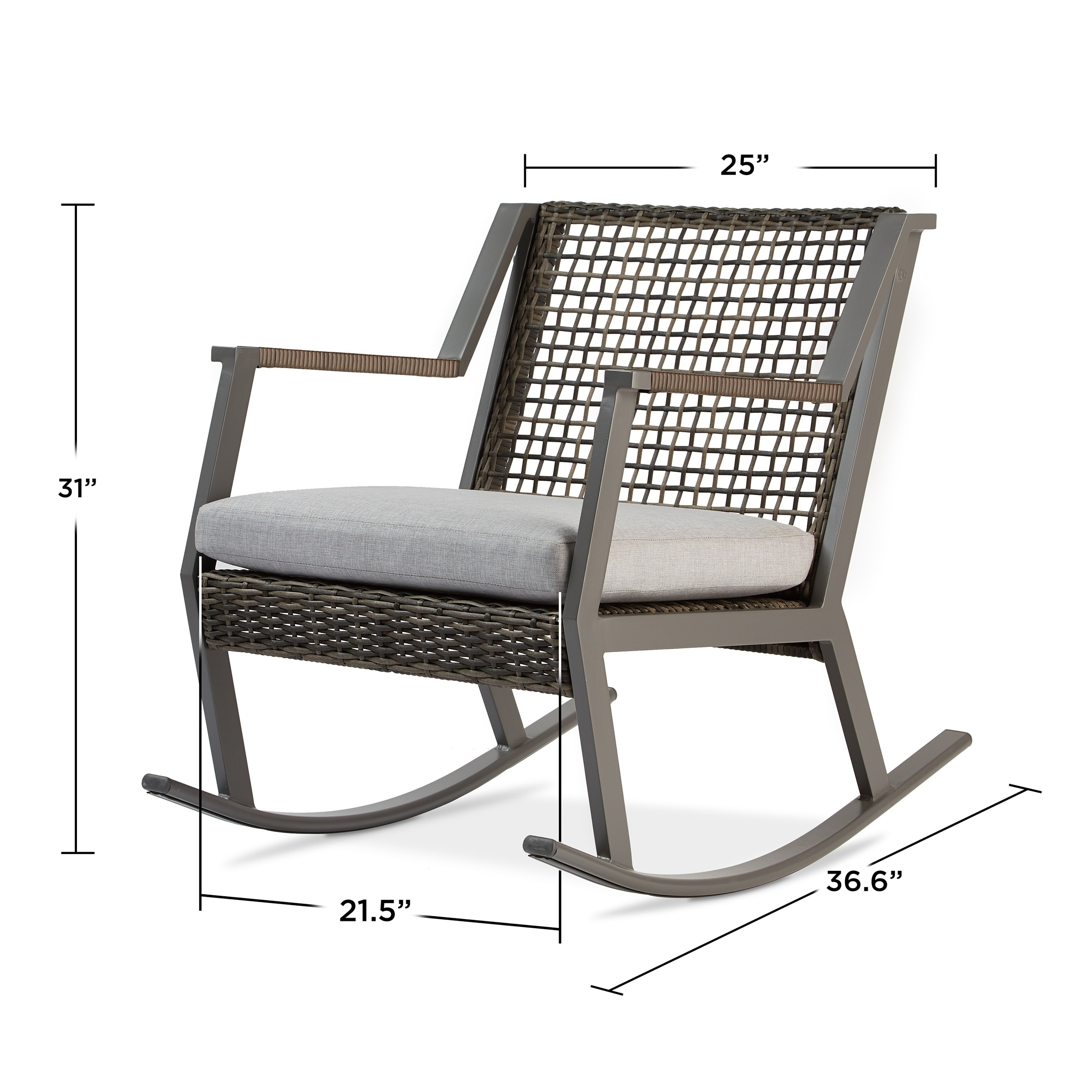 Shop Calvin Rocker Set Of Two Gray By Real Flame   Free Shipping Today    Overstock.com   20568083