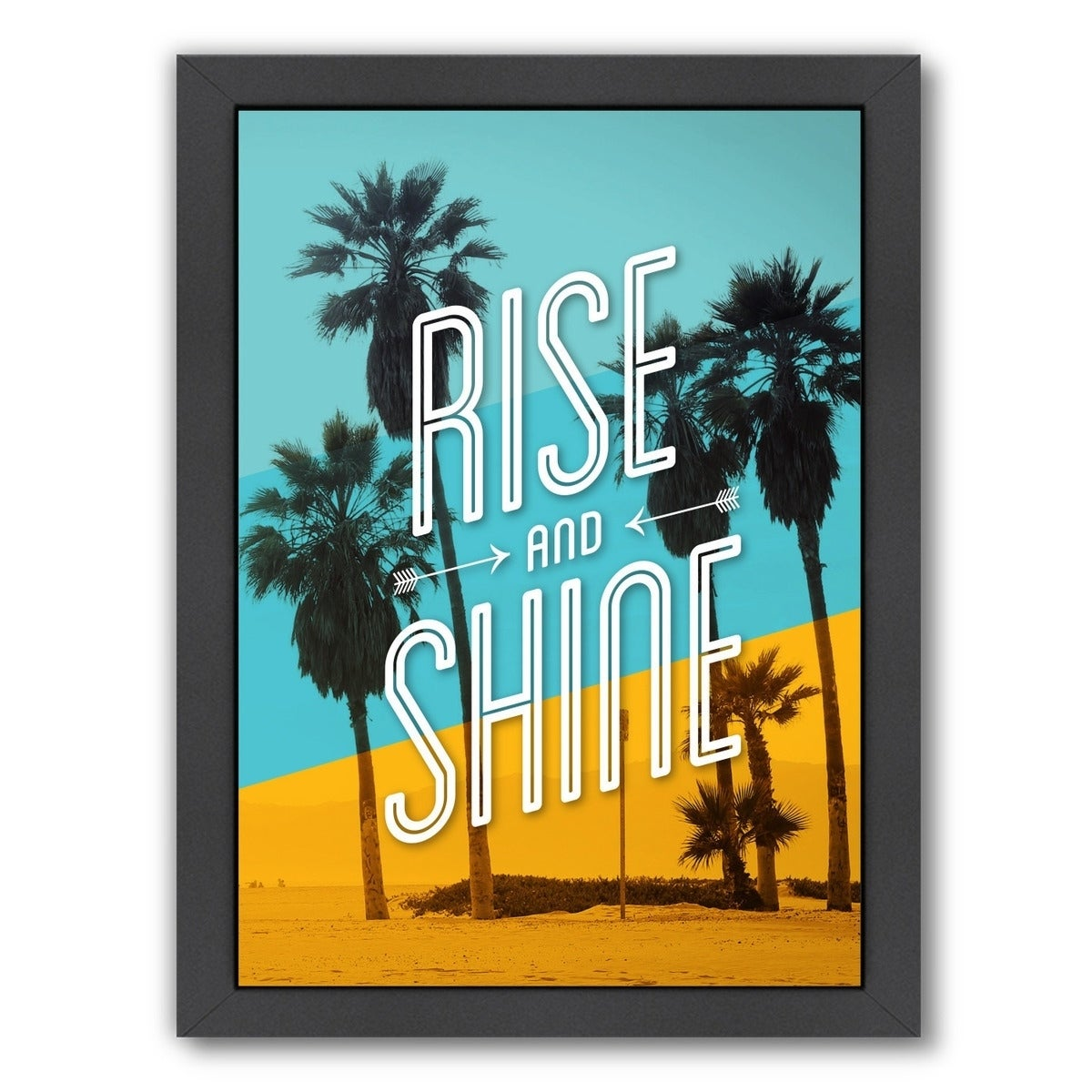 Shop Americanflat \'Rise And Shine Beach\' Framed Wall Art - Ships To ...