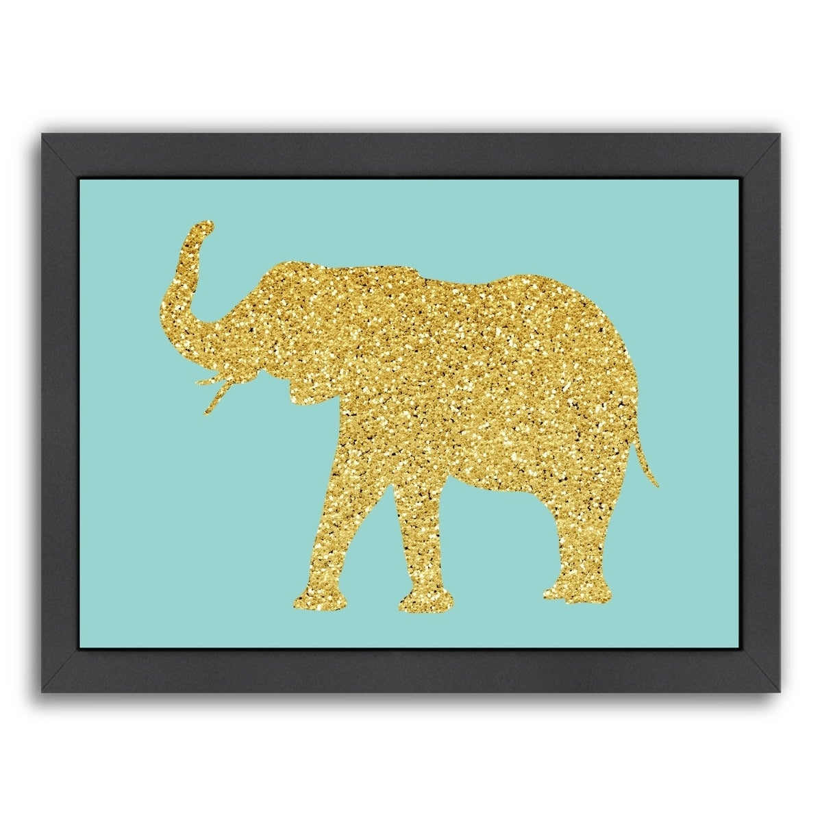 Shop Americanflat \'Gold Glitter Elephant\' Framed Wall Art - On Sale ...