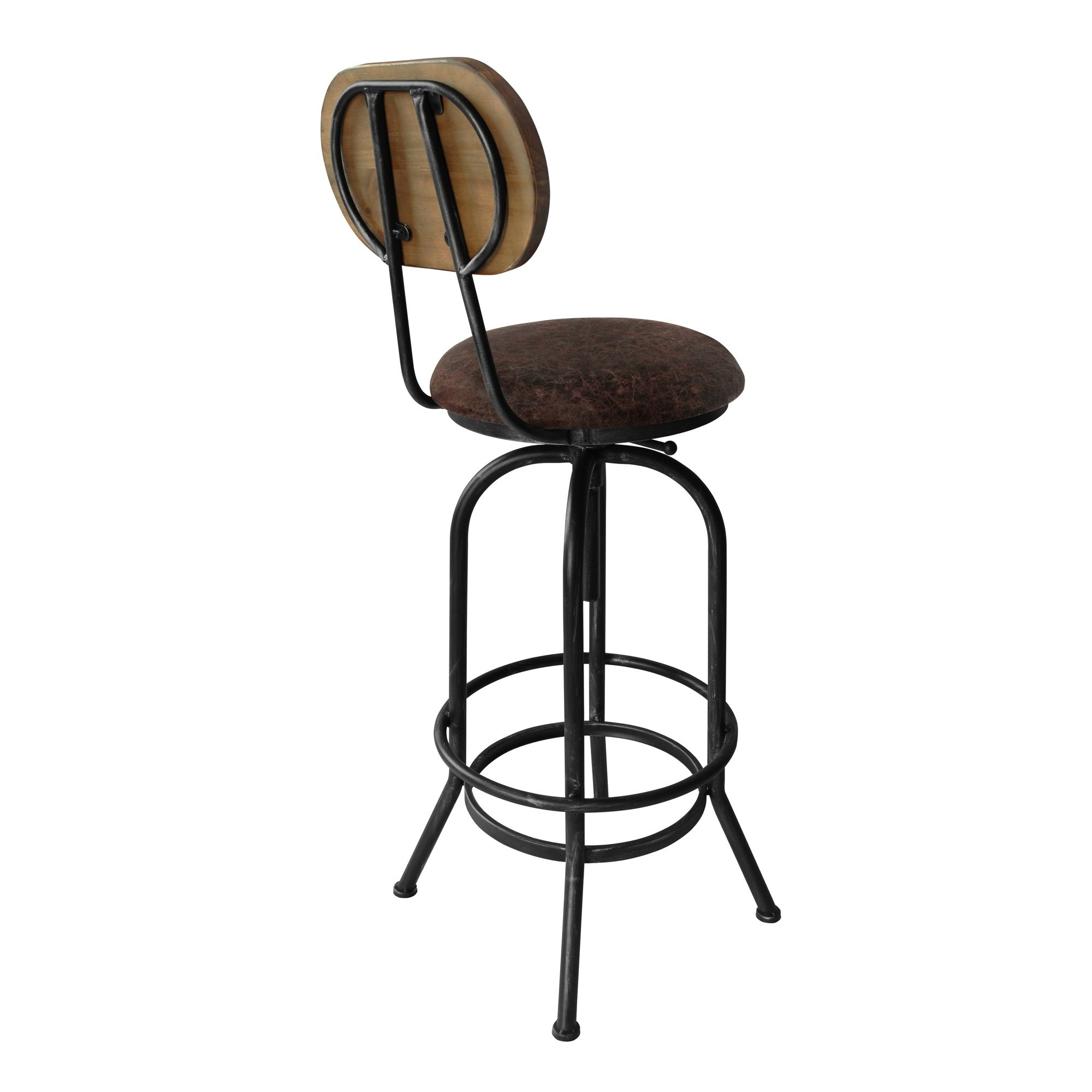 silver brushed metal chair woven. Adele Industrial Adjustable Barstool In Silver Brushed Grey Metal With Brown Fabric Seat And Rustic Pine Wood Back - Free Shipping Today Overstock Chair Woven O