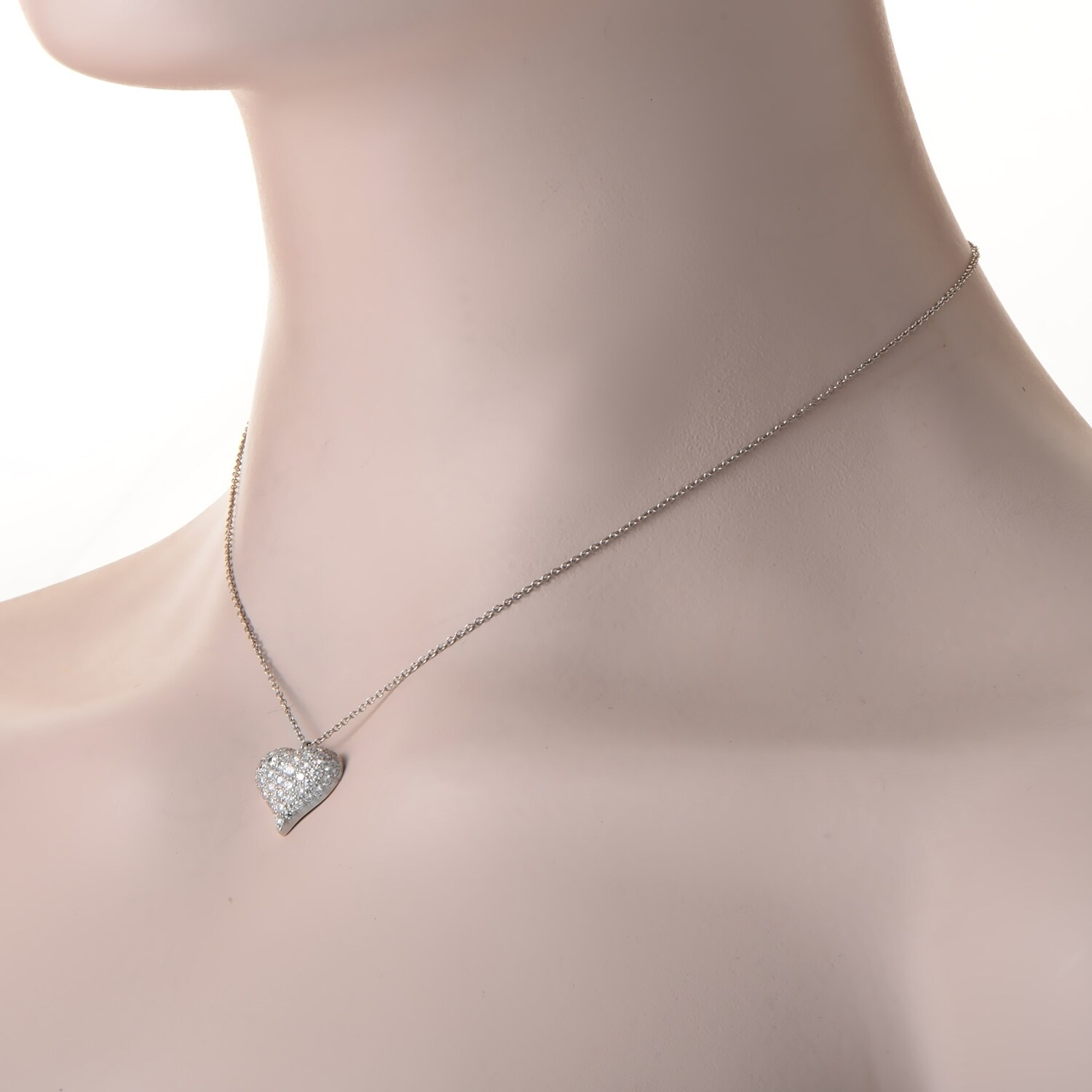 Shop pre owned tiffany co estate platinum diamond heart pendant shop pre owned tiffany co estate platinum diamond heart pendant necklace tif41116 9038 free shipping today overstock 20583010 aloadofball Choice Image