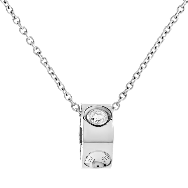 1c413fdc0619 Shop Louis Vuitton Empreinte Women s White Gold Diamond Pendant Necklace -  Free Shipping Today - Overstock - 20583042