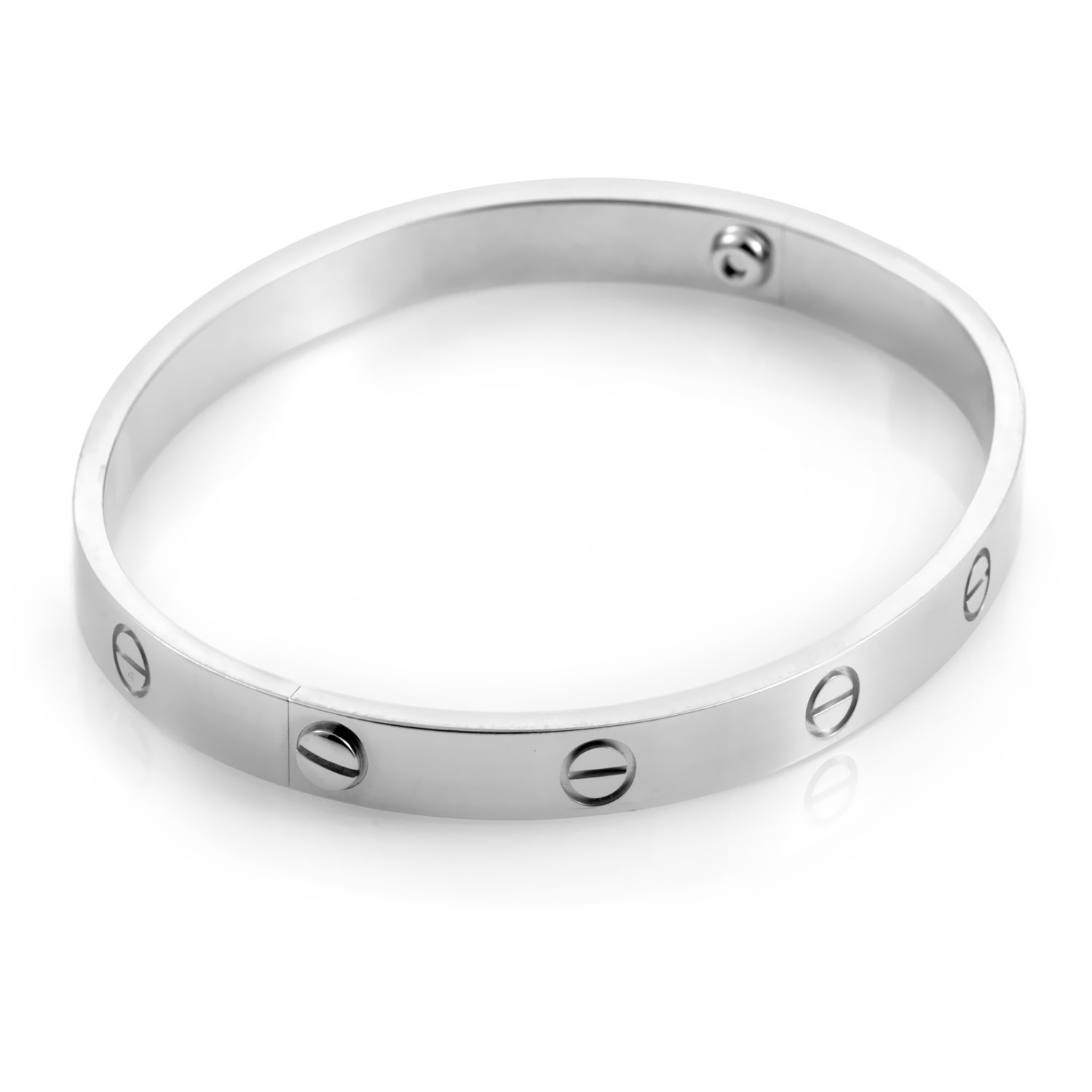 ce2b13492a1 Shop Cartier LOVE White Gold Bracelet Size 17 - Free Shipping Today ...
