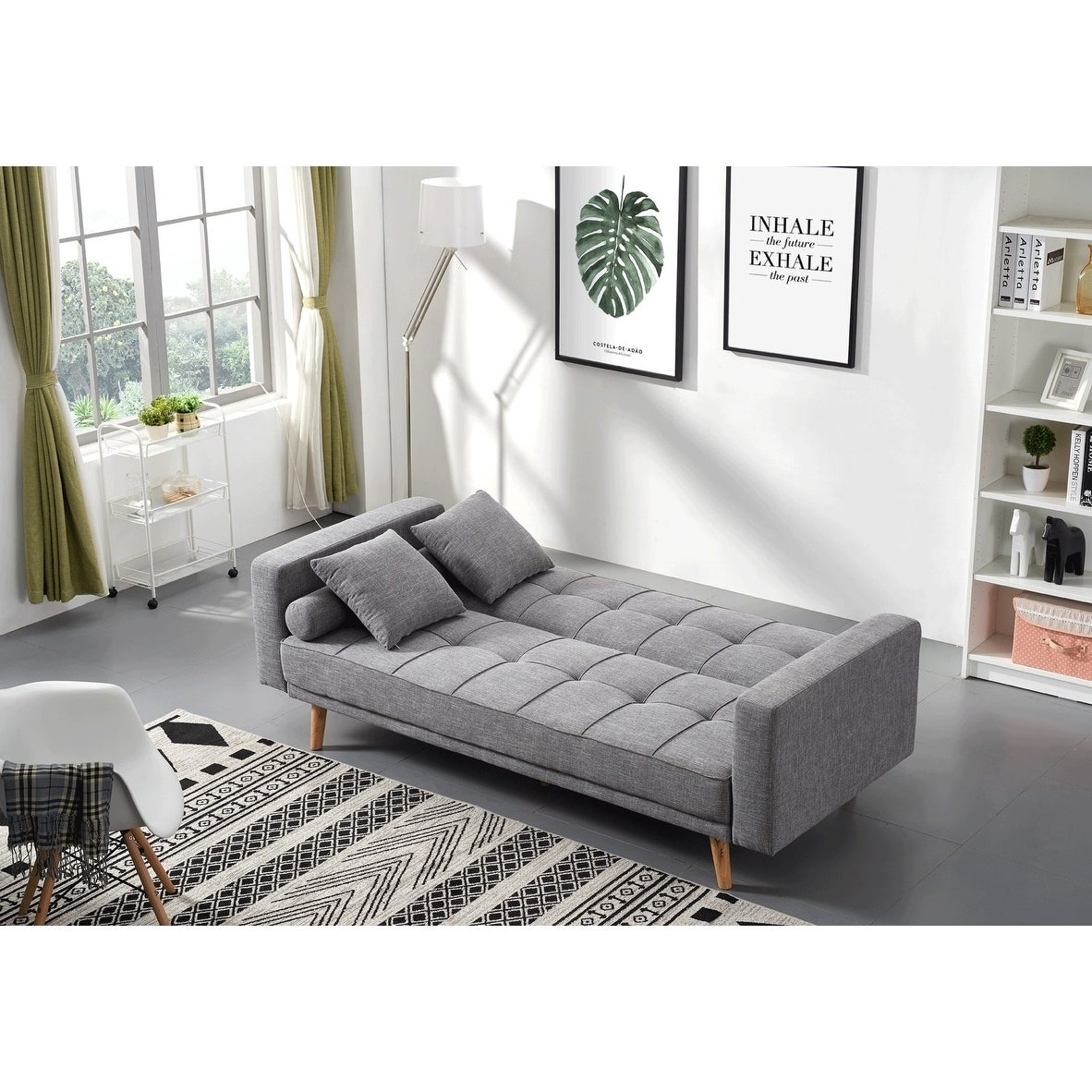 Luca Home Alex Scandinavian Style Sofa Bed Free Shipping Today 20585189