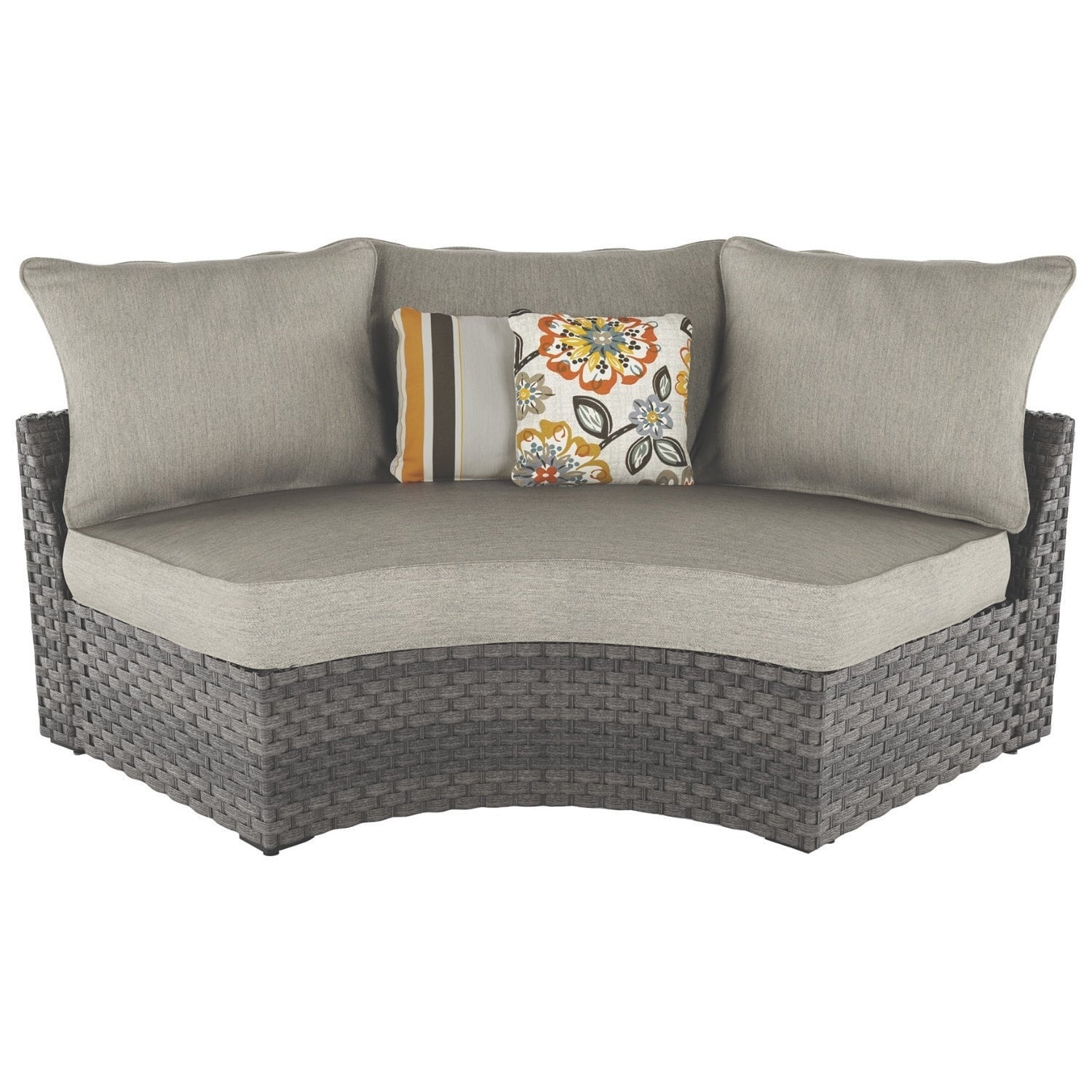 Spring Dew Outdoor Curved Corner Chair - Gray