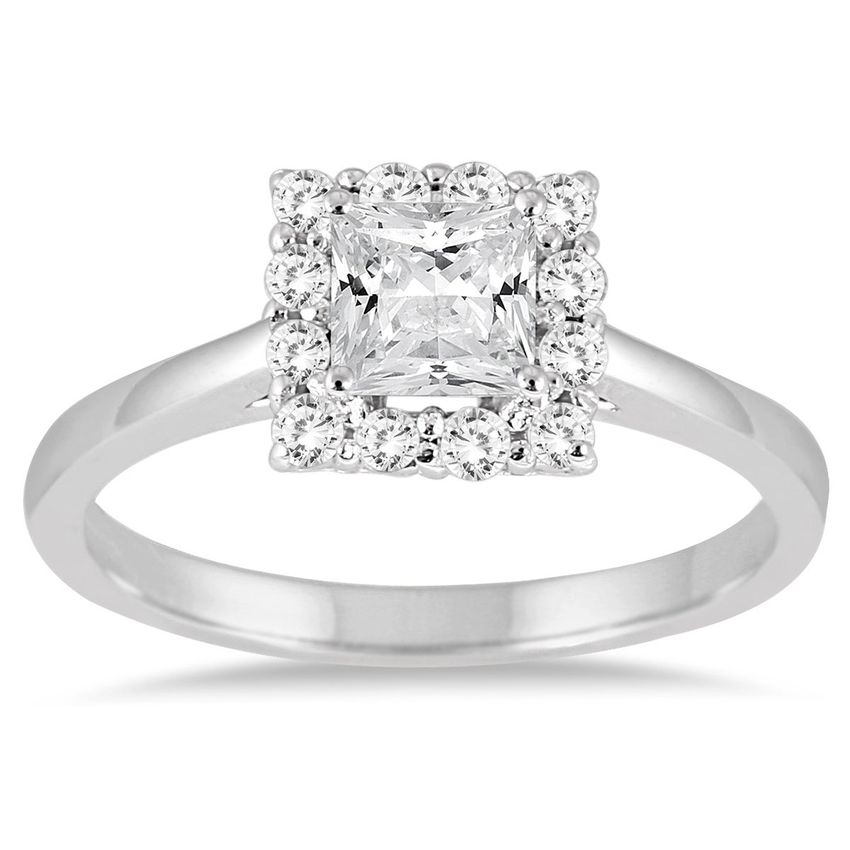 Shop 3 4 Carat TW Princess Cut Diamond Halo Engagement Ring in 14K White  Gold - Free Shipping Today - Overstock - 20593713 205f44764703