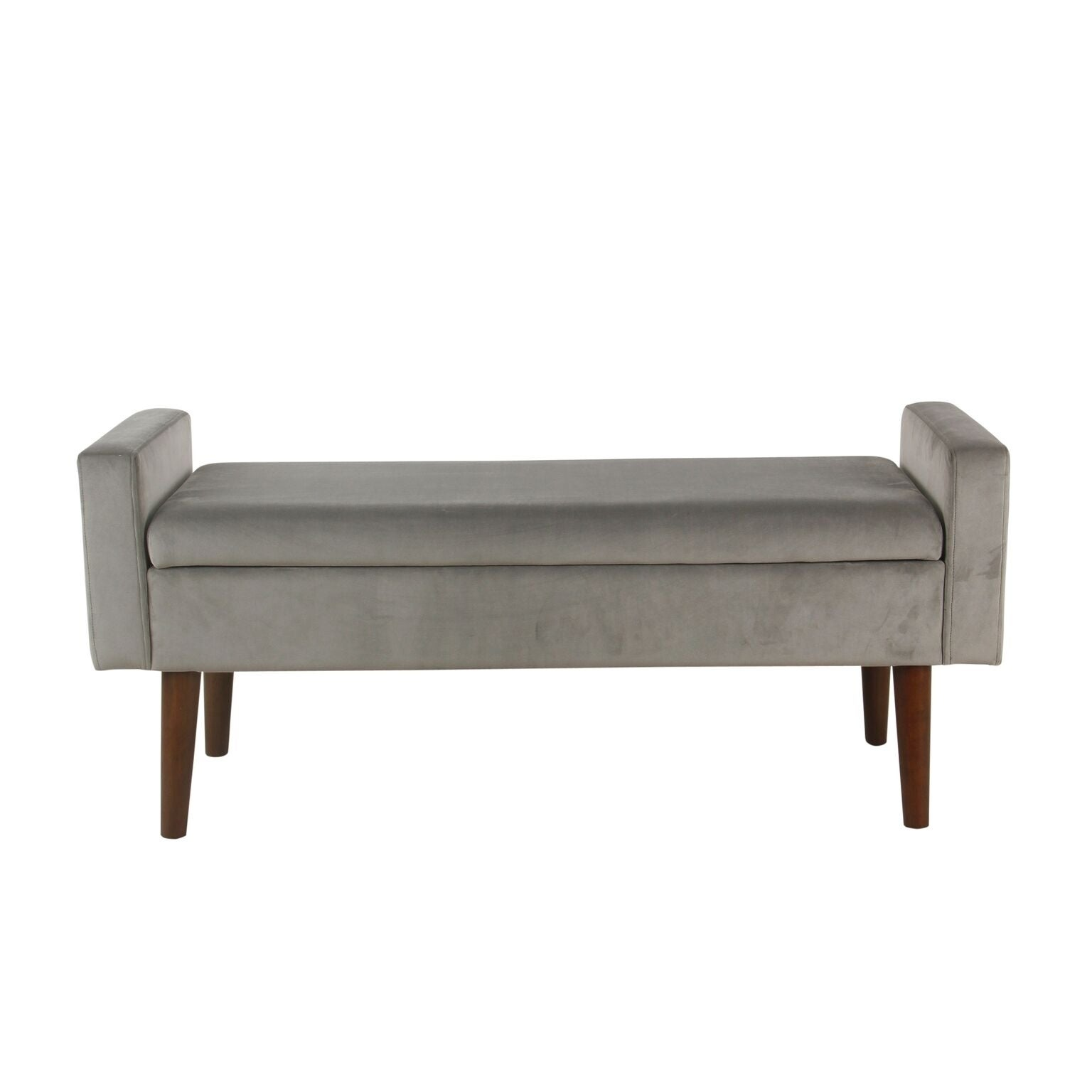 Genial Shop Palm Canyon Posas Velvet Storage Bench   Gray   On Sale   Free  Shipping Today   Overstock.com   20594250
