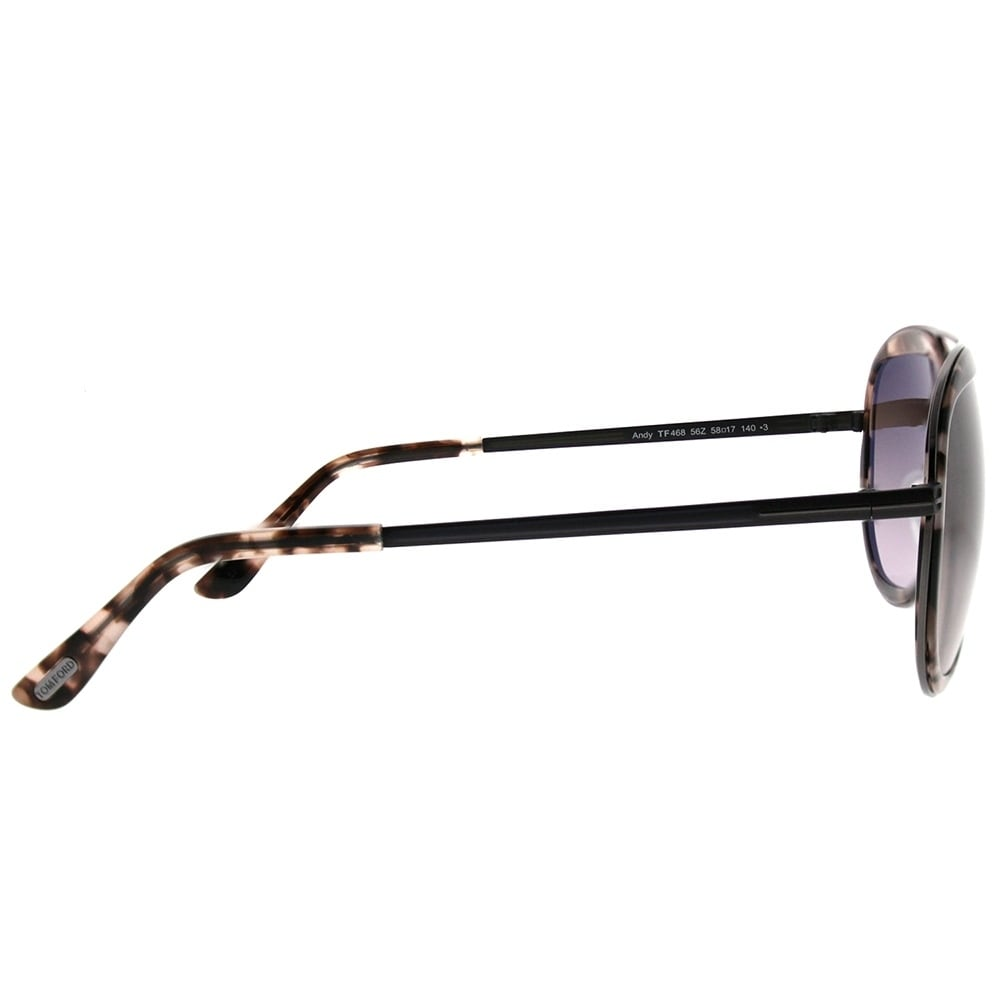 ba62da0a4eb7 Shop Tom Ford Aviator TF 468 Andy 56Z Unisex Pink Havana Frame Brown  Gradient Lens Sunglasses - Free Shipping Today - Overstock - 20596299