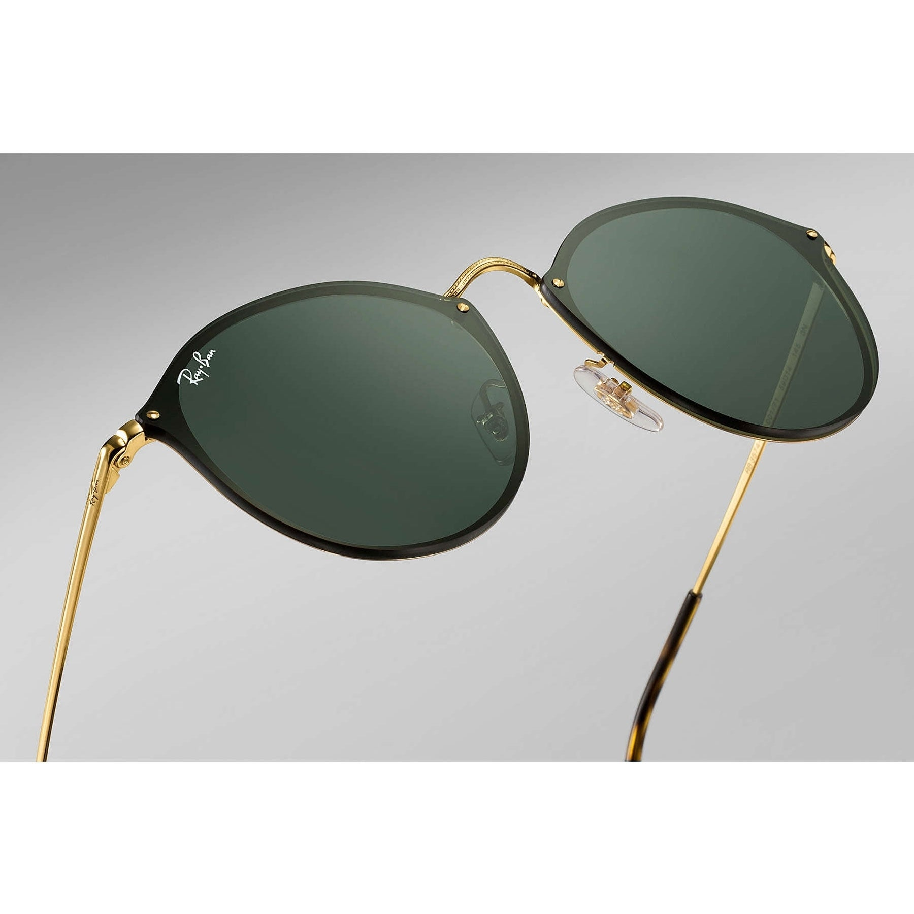 fc721d1bc7c Shop Ray-Ban RB3574N Blaze Round Sunglasses Gold  Green Classic 59mm -  Black - Free Shipping Today - Overstock - 20599784