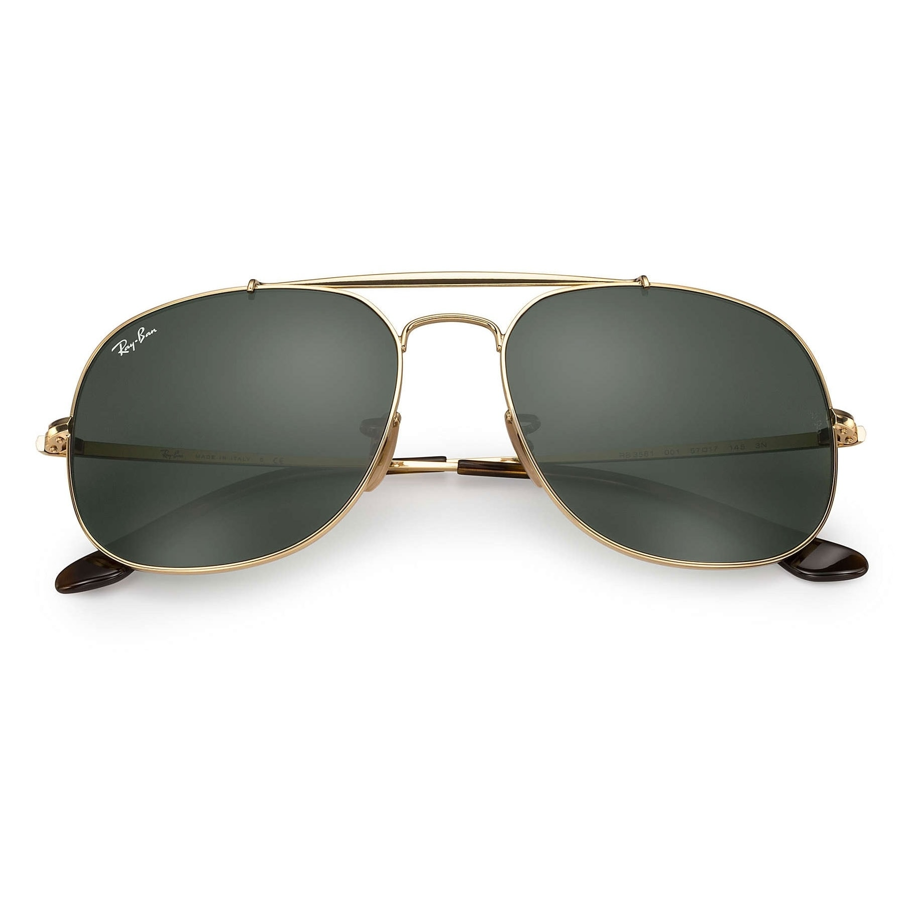 9765505b04 Shop Ray-Ban RB3561 General Sunglasses Gold  Green Classic 57mm - Gold -  Free Shipping Today - Overstock - 20599786