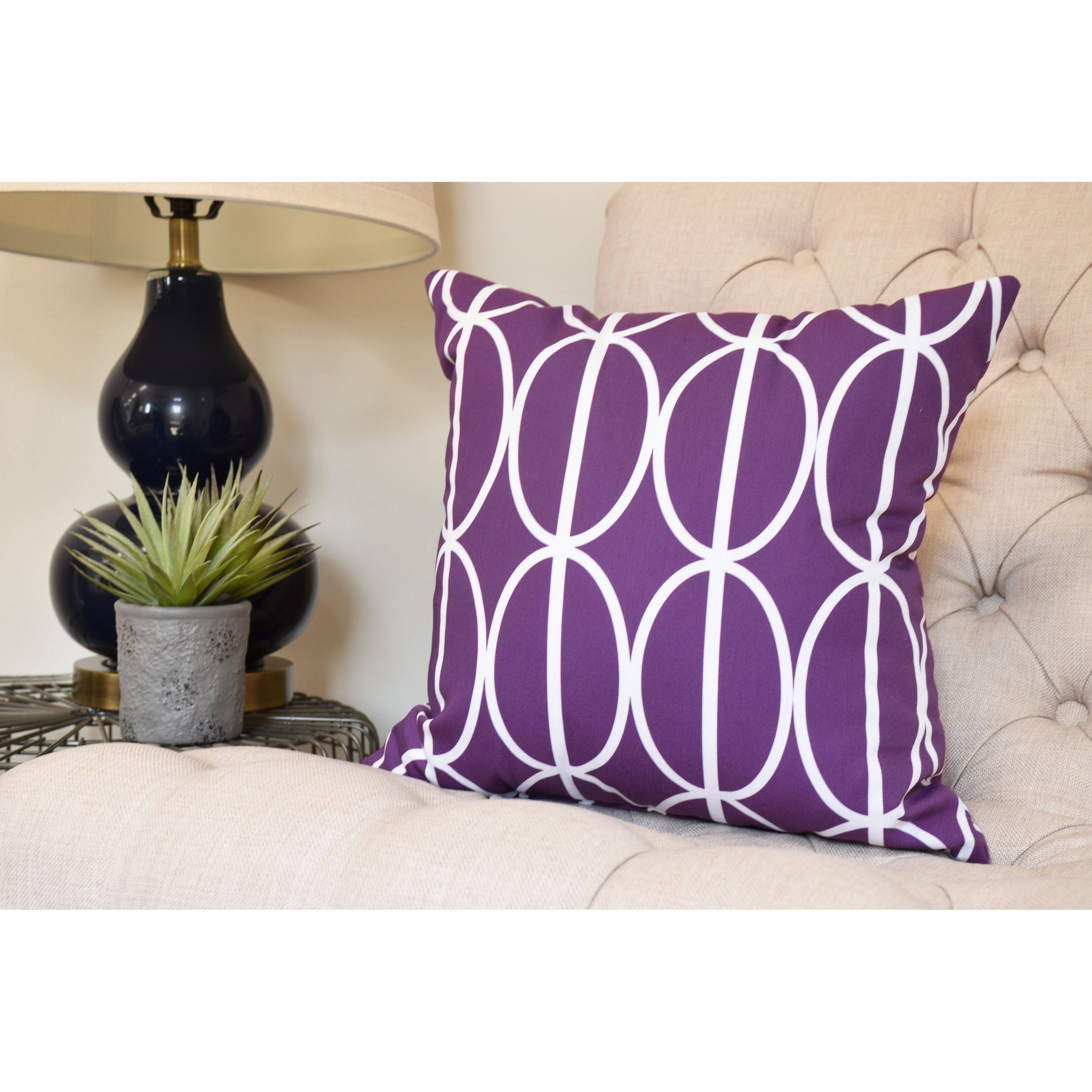 Ovals Go Round 18 Inch Decorative Abstract Throw Pillow Free Shipping On Orders Over 45 20600328