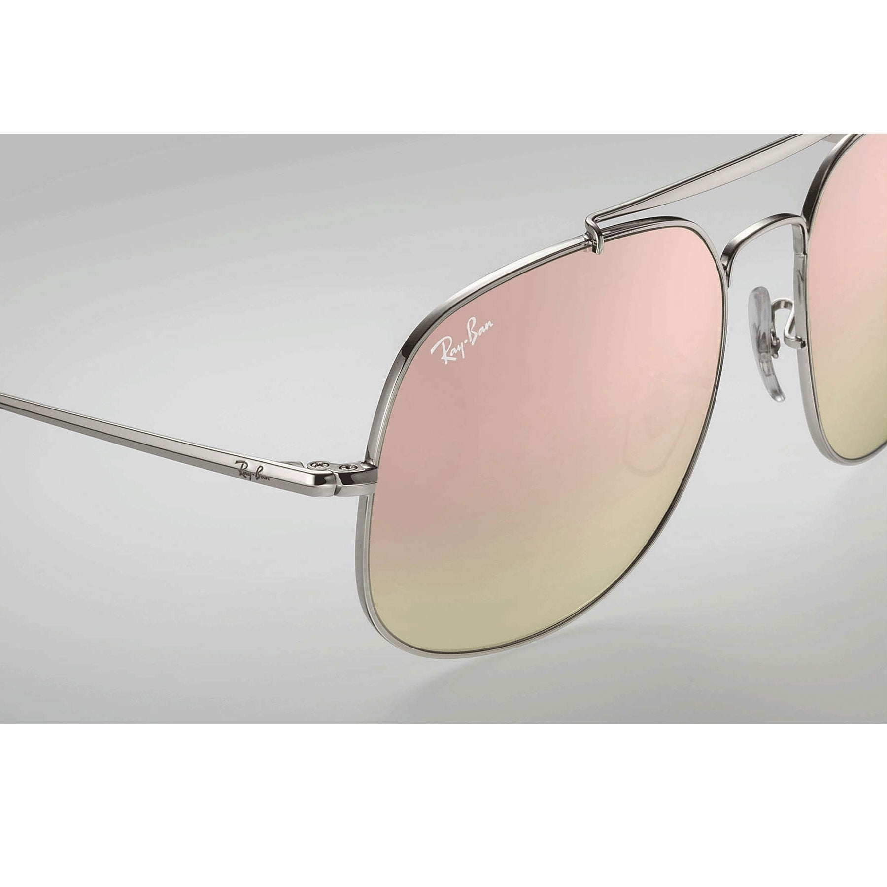 eae878f128 Shop Ray-Ban RB3561 General Sunglasses Silver  Copper Gradient Flash 57mm -  Free Shipping Today - Overstock - 20602402