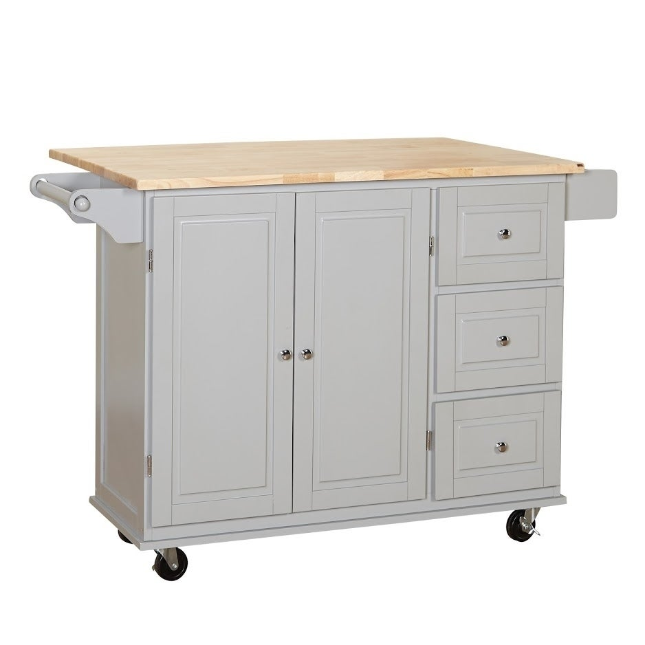3 Drawer Drop Leaf Kitchen Cart Free Shipping Today 20602808