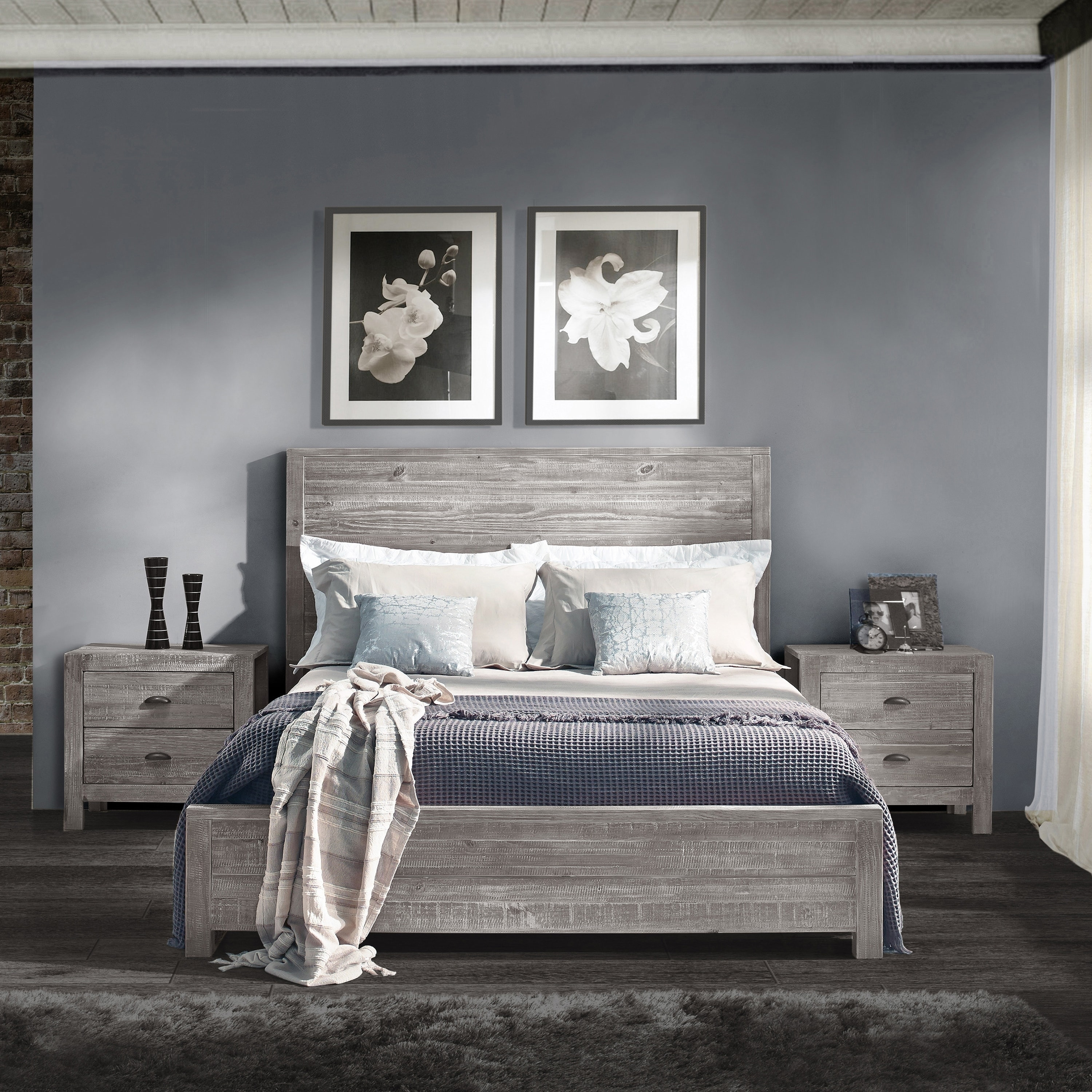 Shop grain wood furniture montauk queen solid wood panel bed free shipping today overstock com 20603174