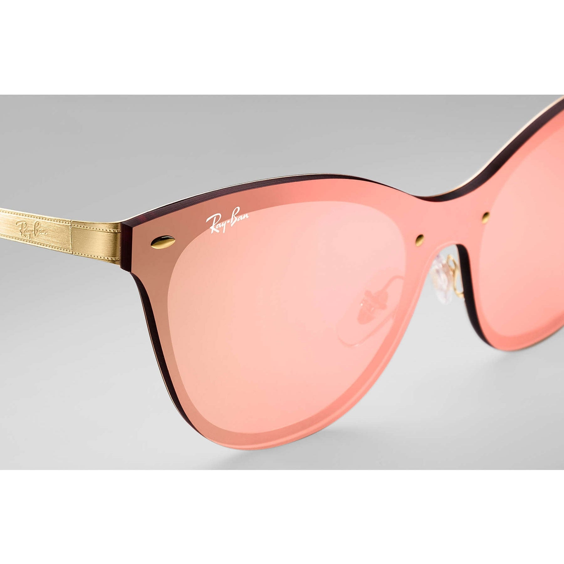 c3f6c928868 Shop Ray-Ban RB3580N Blaze Cat Eye Sunglasses Gold  Pink Mirror 43mm - Free  Shipping Today - Overstock - 20603390