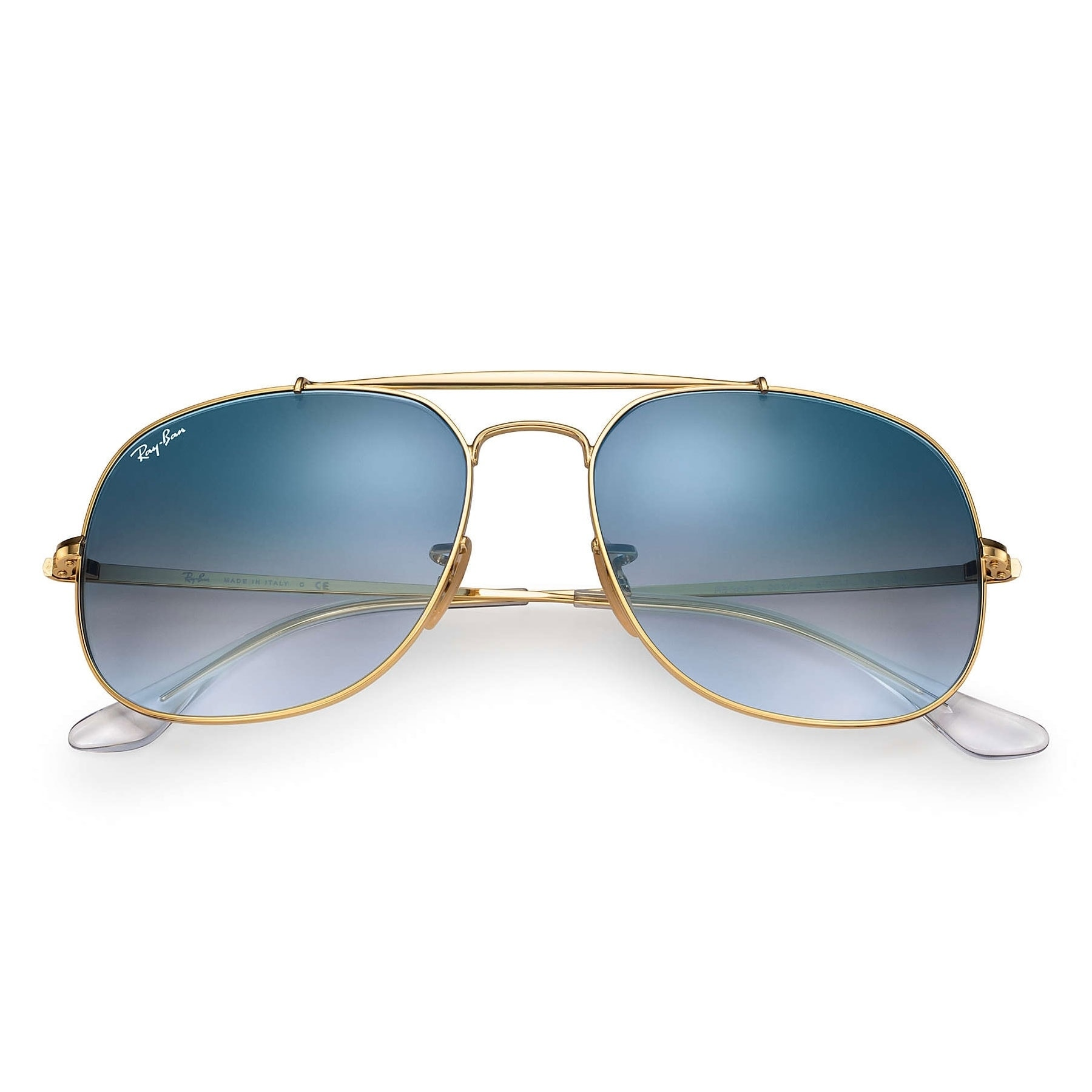 4b6e75418fe66c Shop Ray-Ban RB3561 General Sunglasses Gold  Light Blue Gradient 57mm -  Free Shipping Today - Overstock.com - 20603407