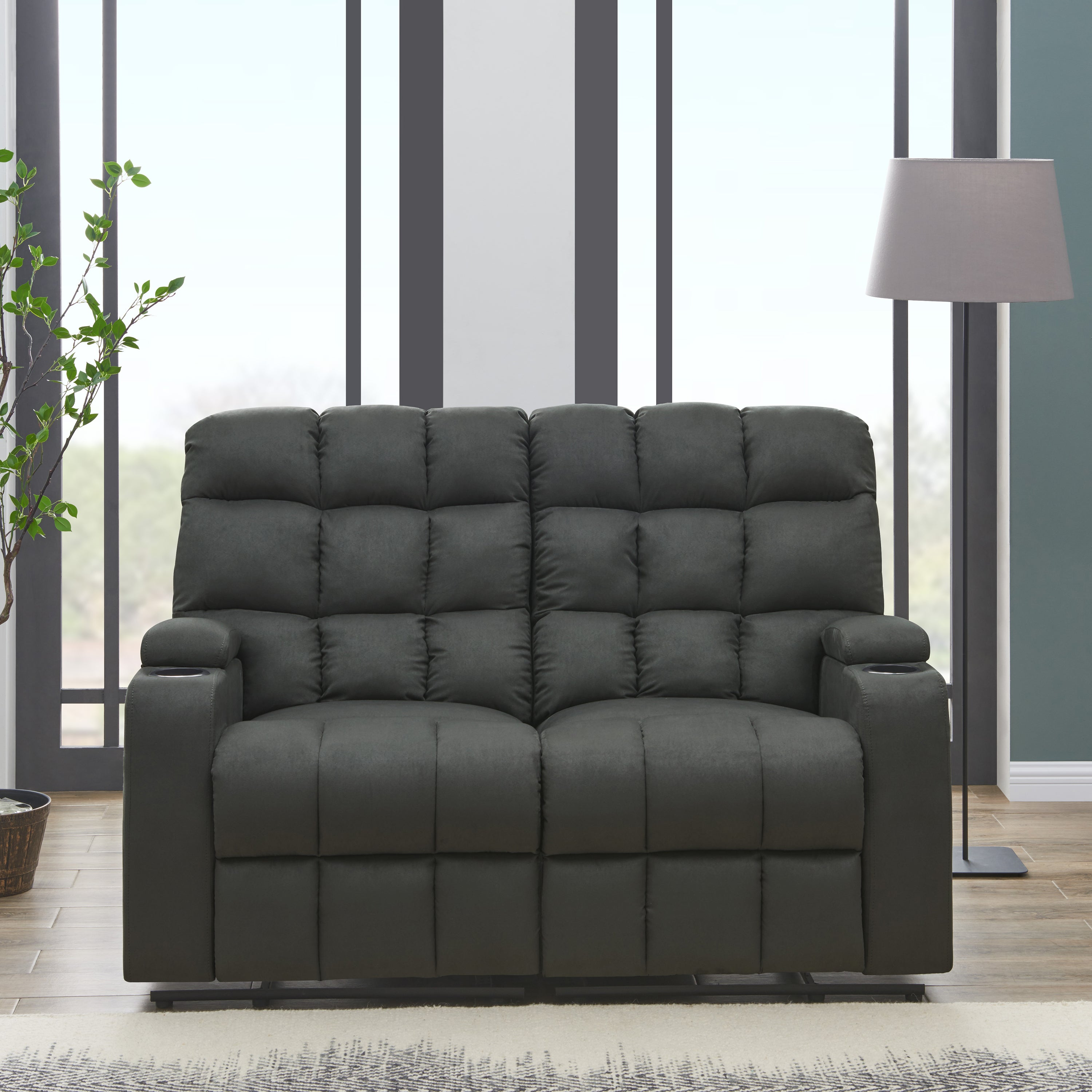 product today overstock alder microfiber seat storage sale loveseat pisgah shipping grey free reclining garden clay home wall