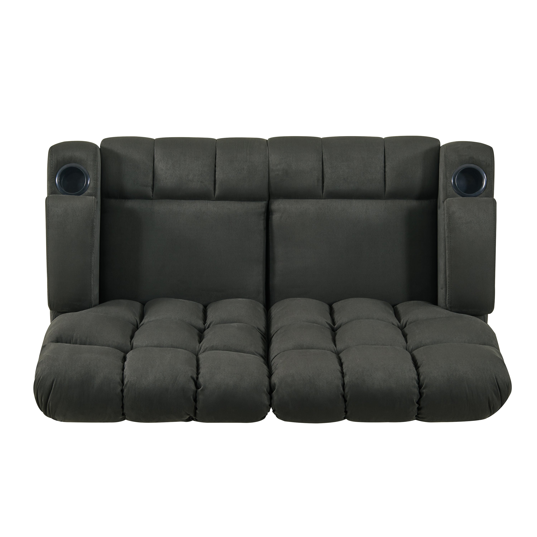 Shop Strick Bolton Leighton Grey Microfiber 2 Seat Reclining