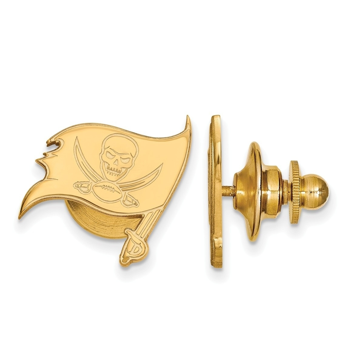 976a3b442 Shop Versil Gold Plated Sterling Silver Tampa Bay Buccaneers Lapel Pin -  Free Shipping Today - Overstock.com - 20608542