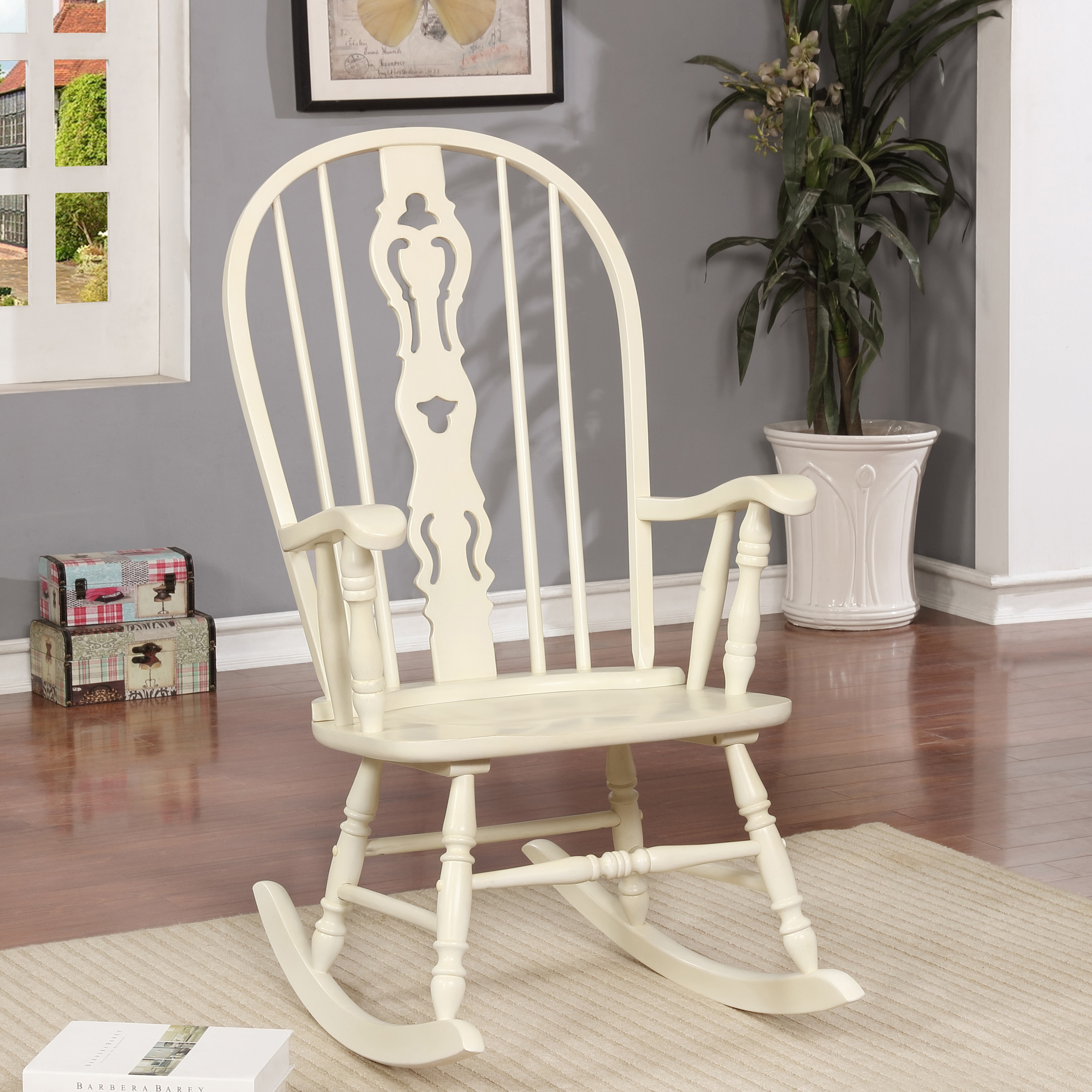 Shop Furniture Of America Ethel Traditional Country Rocking Chair   Free  Shipping Today   Overstock.com   20609422
