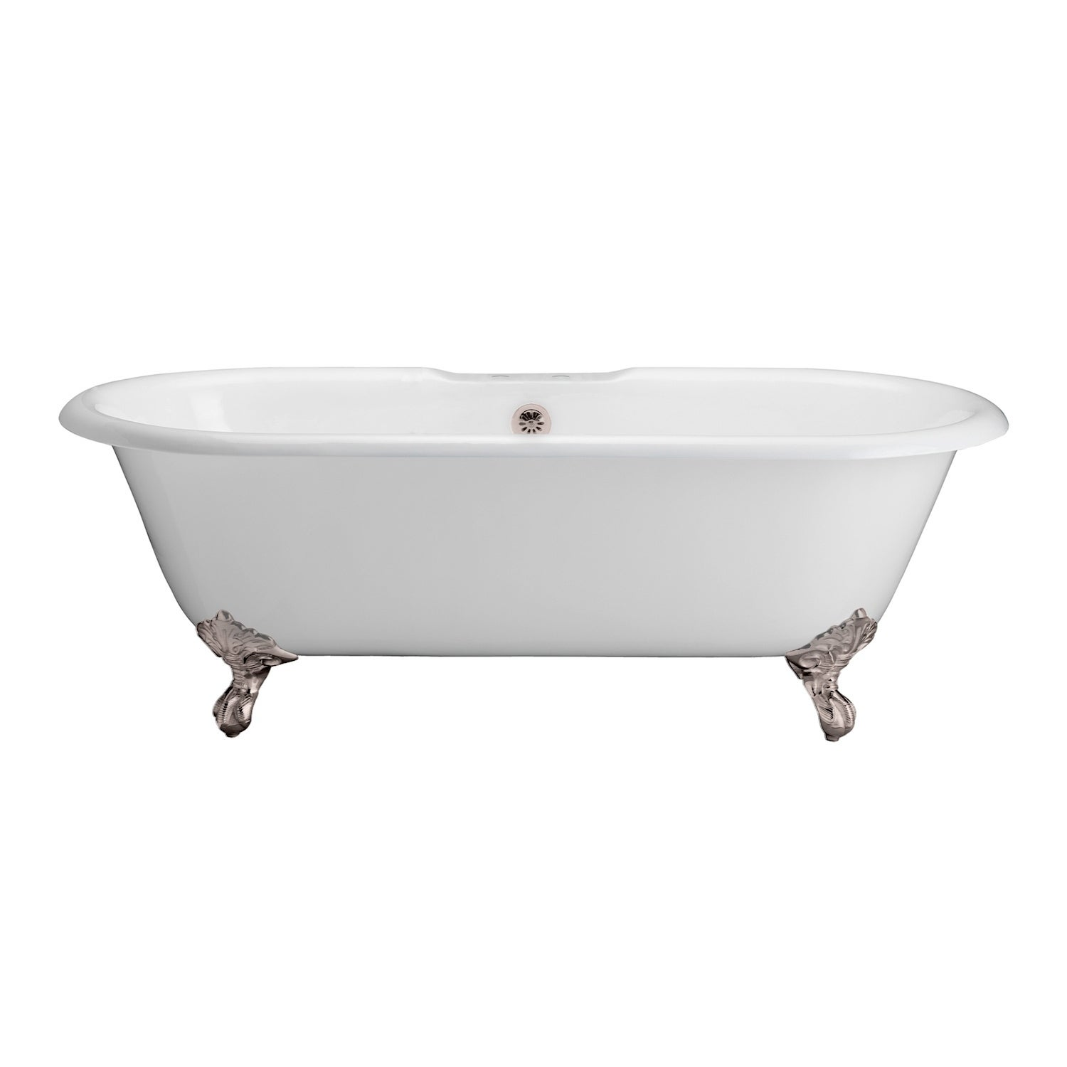 Shop Cahaba Classics 67-inch Double Roll Top Cast Iron Tub - Free ...