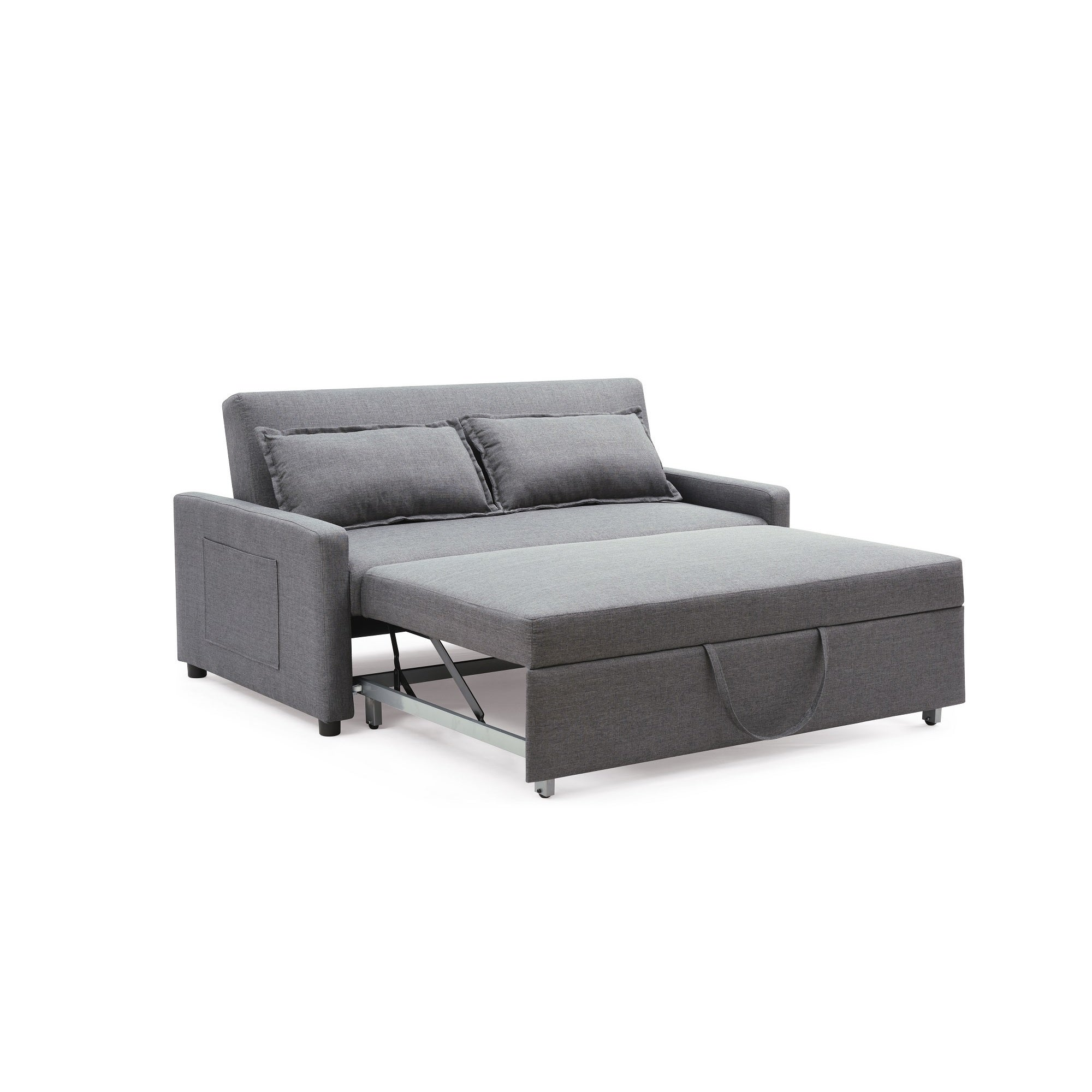pull out sofa bed. Shop The Curated Nomad Stadtmuller Convertible Sofa With Pullout Bed In Grey (As Is Item) - Free Shipping Today Overstock.com 20614485 Pull Out