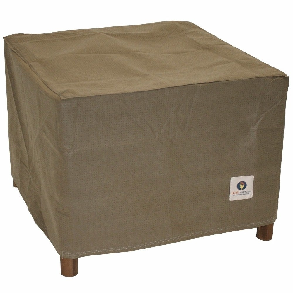Shop duck covers essential square patio ottoman or side table cover on sale free shipping on orders over 45 overstock com 20615620