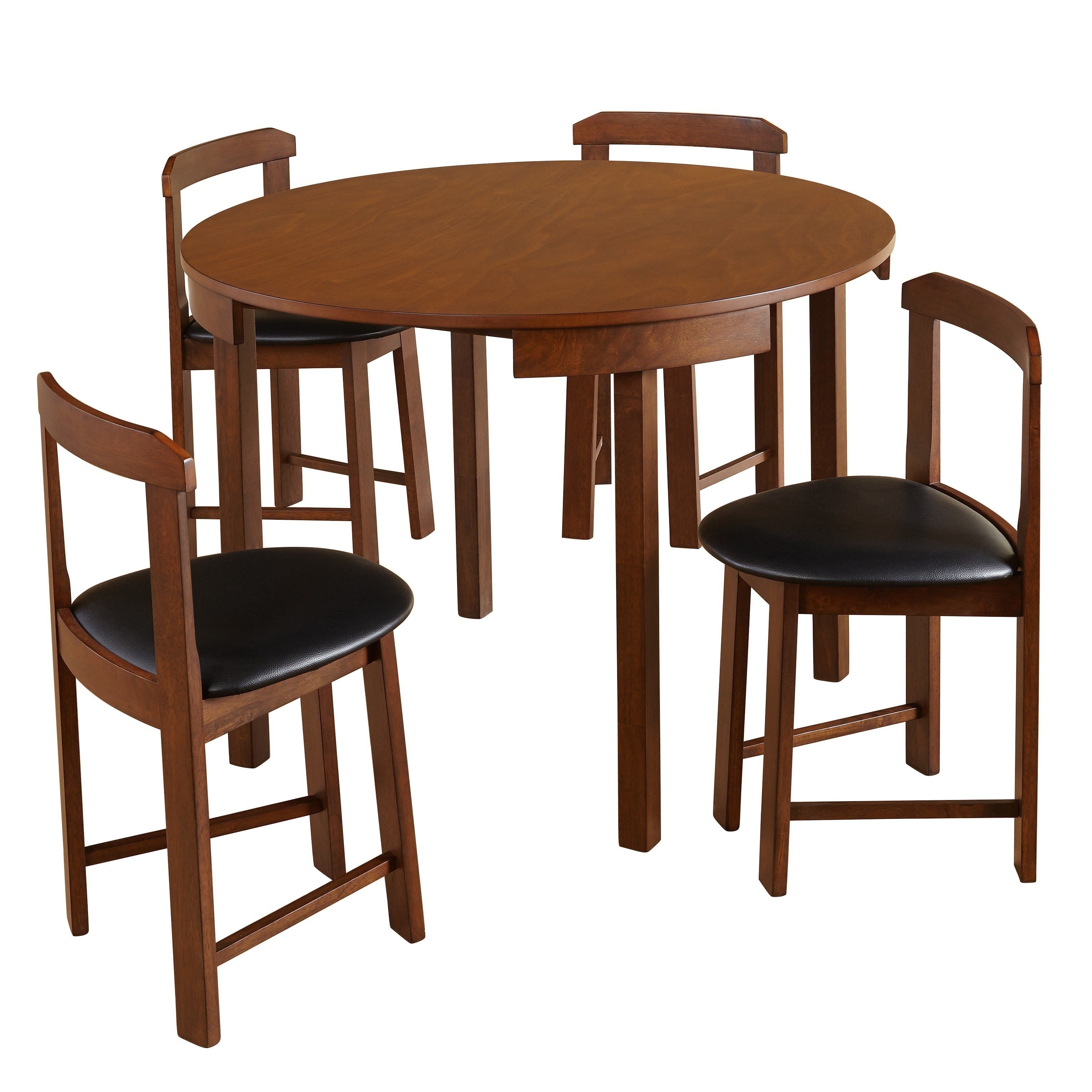 Harrisburg 5 Piece Tobey Compact Round Dining Set Free Shipping Today 20616440