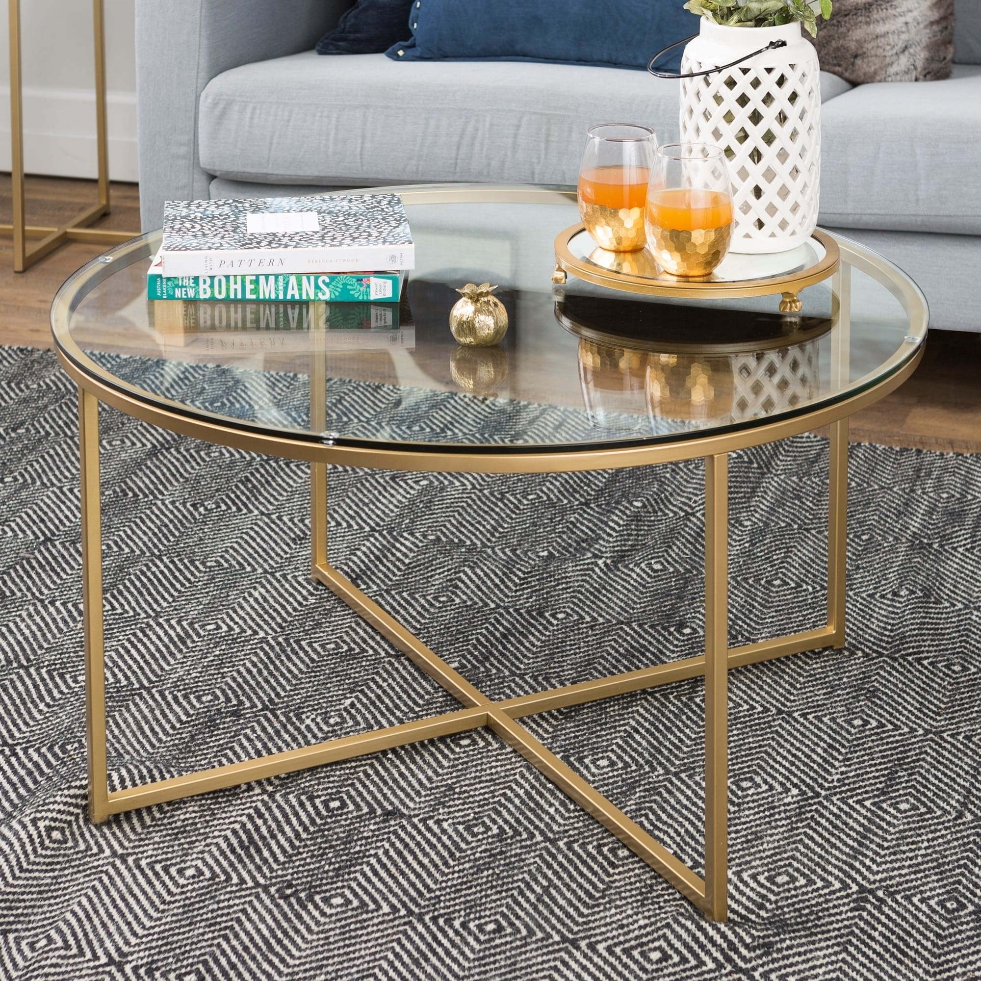 Clay Alder Home Toston 36 Inch Coffee Table With X Base