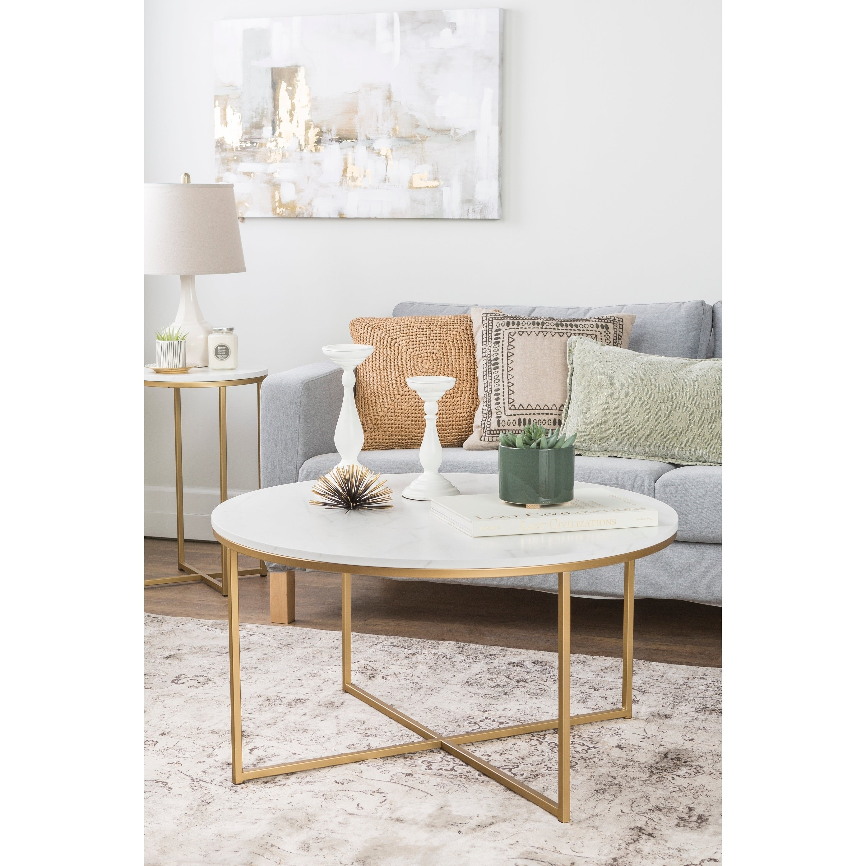 Clay Alder Home Toston 36 Inch Coffee Table With X Base On Free Shipping Today 20616482