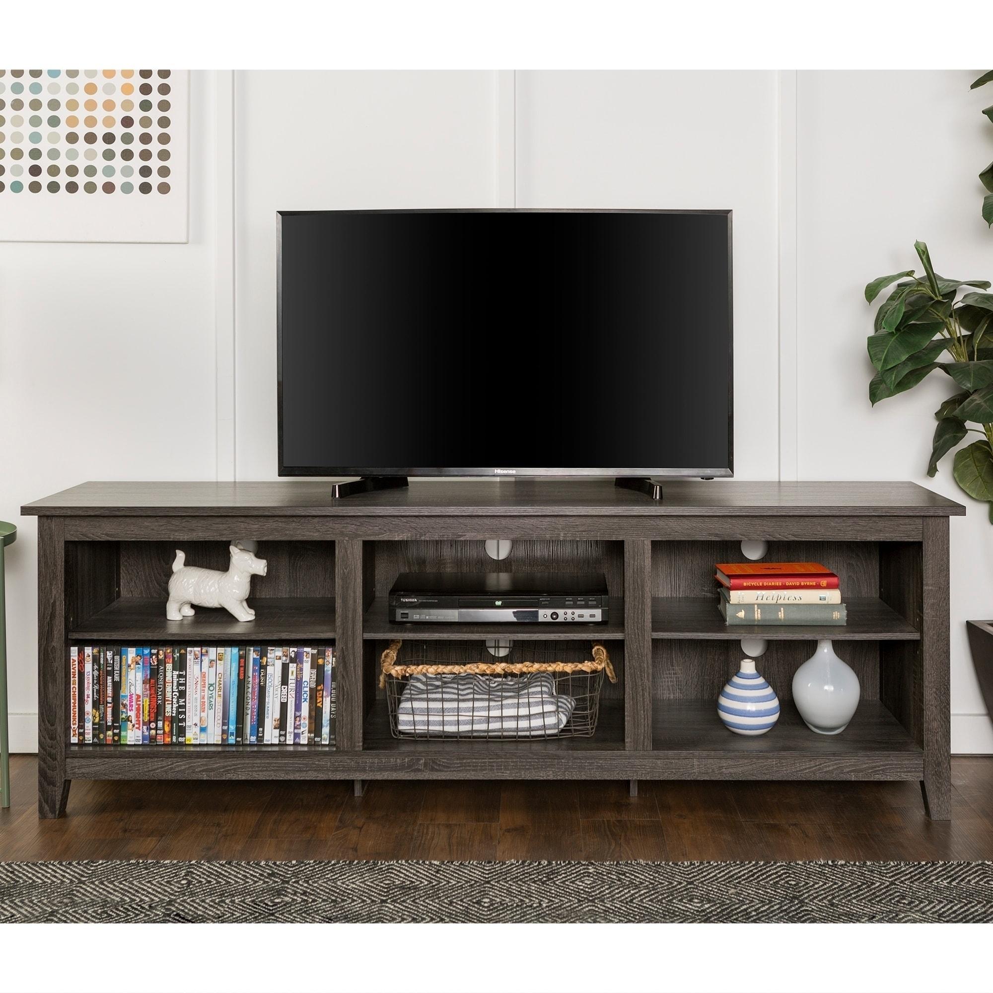 Shop Copper Grove Beaverhead 70 Inch Wood Media Tv Stand Charcoal