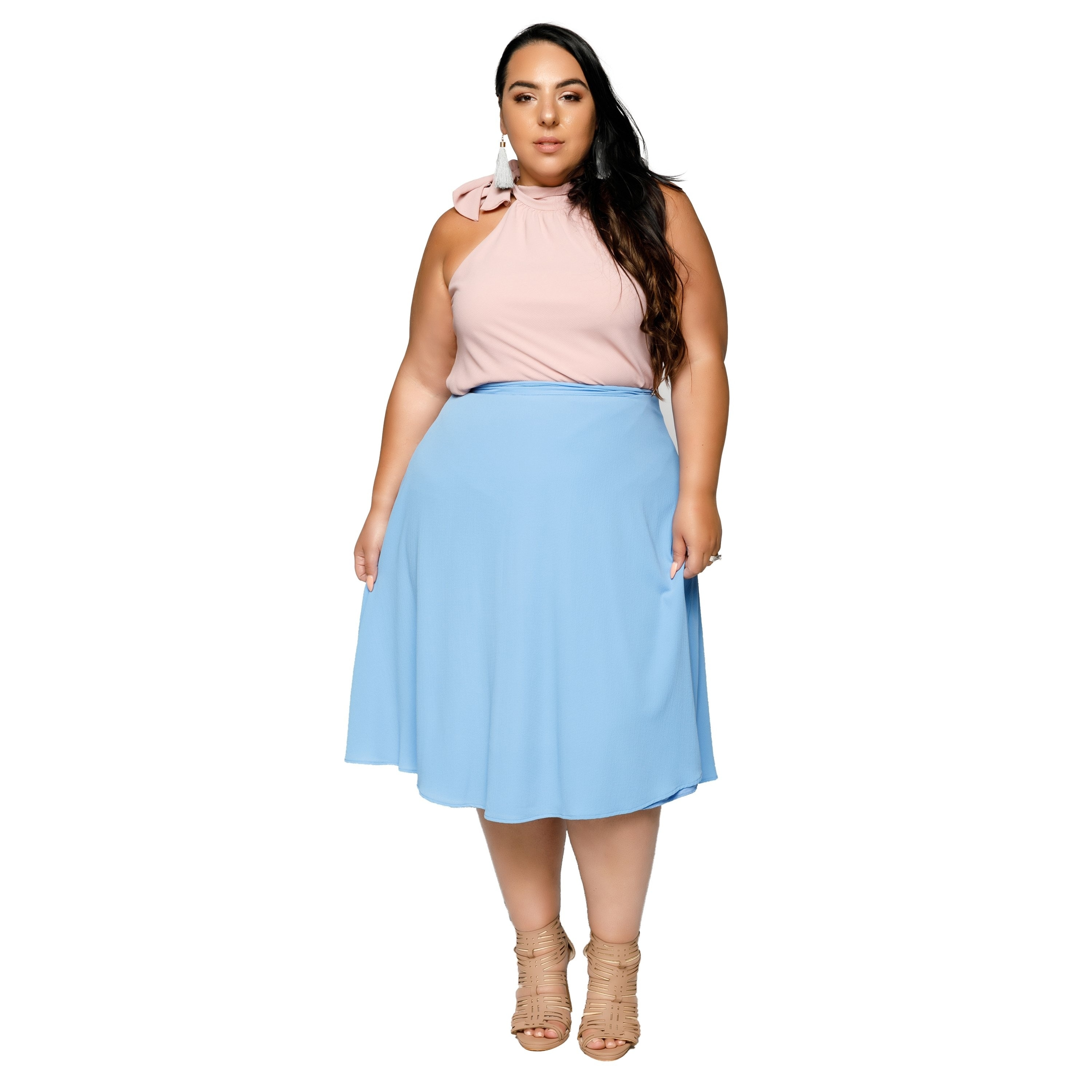7be6dbed1 Plus Size Flared Skirt Dress