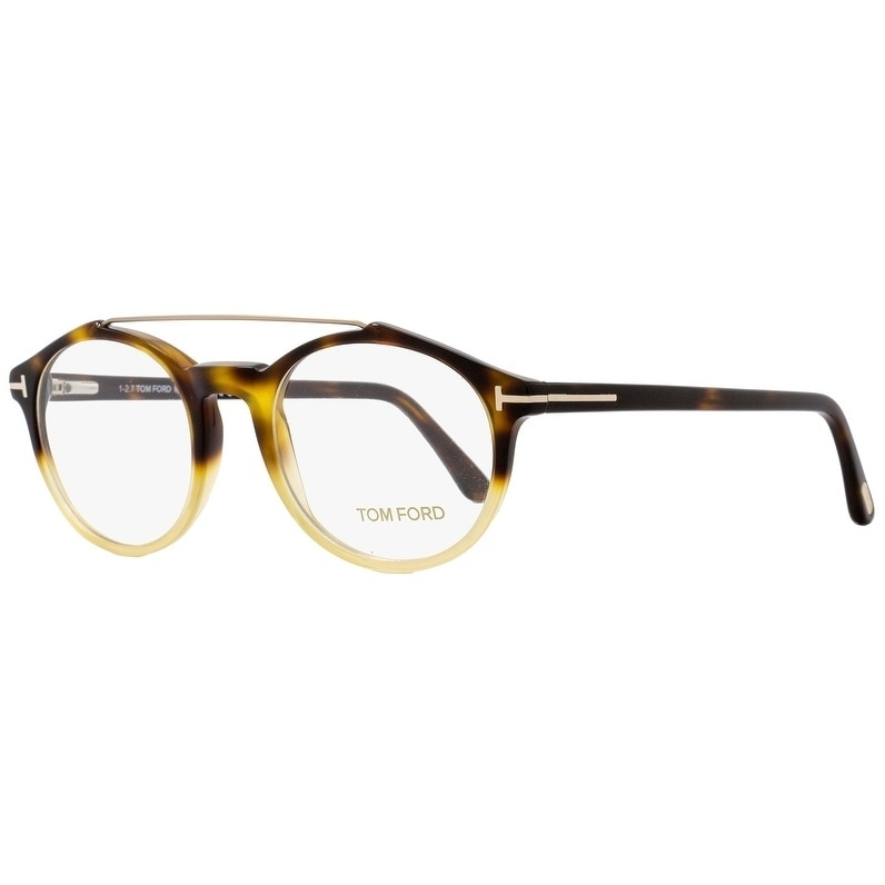 ed00c61f658c Shop Tom Ford TF5455 056 Unisex Havana Amber 48 mm Eyeglasses - Free  Shipping Today - Overstock - 20617465