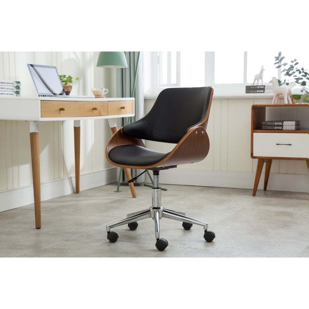 Charmant Shop Porthos Home Adjustable Height Mid Century Modern Office Desk Chair    Free Shipping Today   Overstock.com   20629520