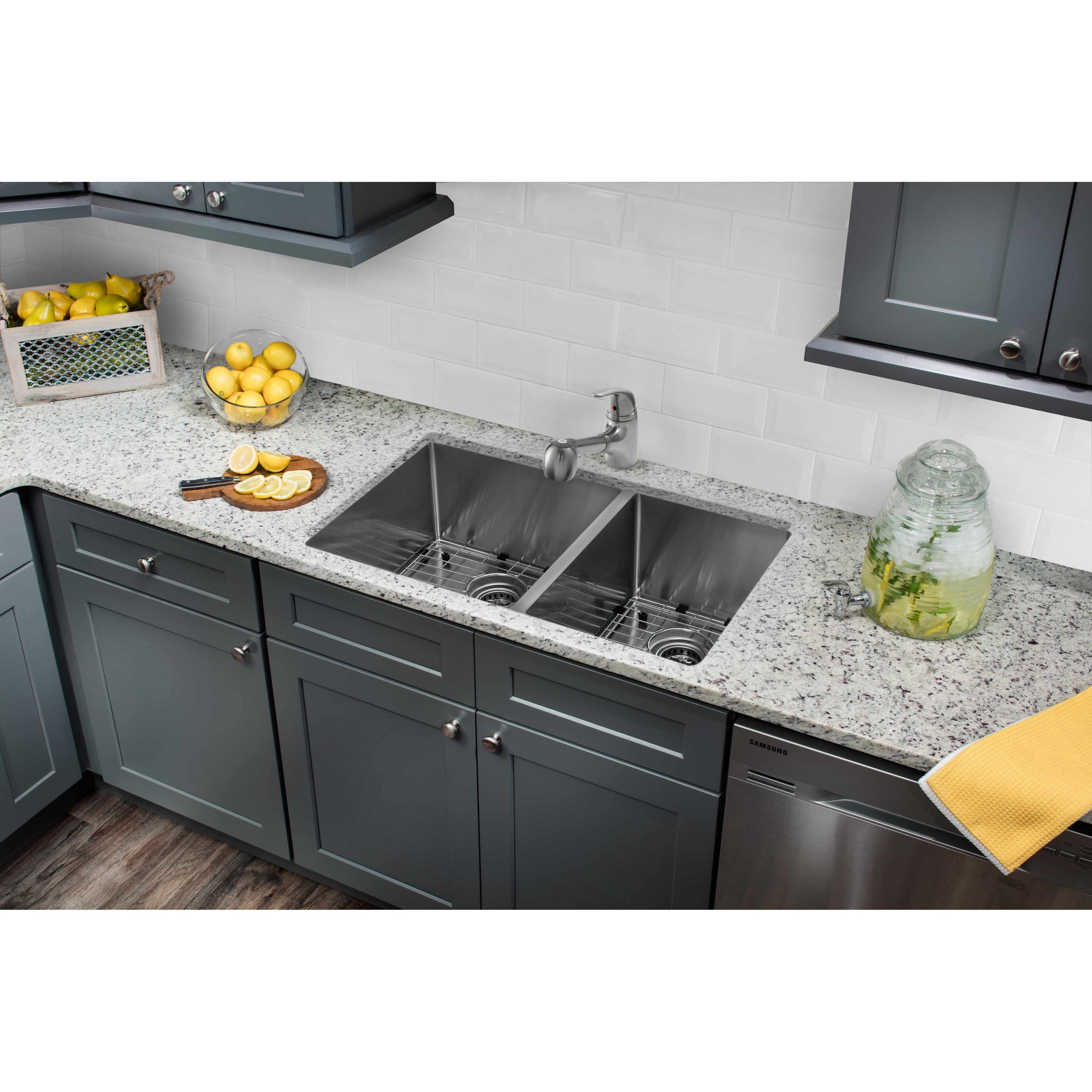 Cahaba 32 x 19 16 Gauge SS Handmade 60/40 Kitchen Sink with Low ...