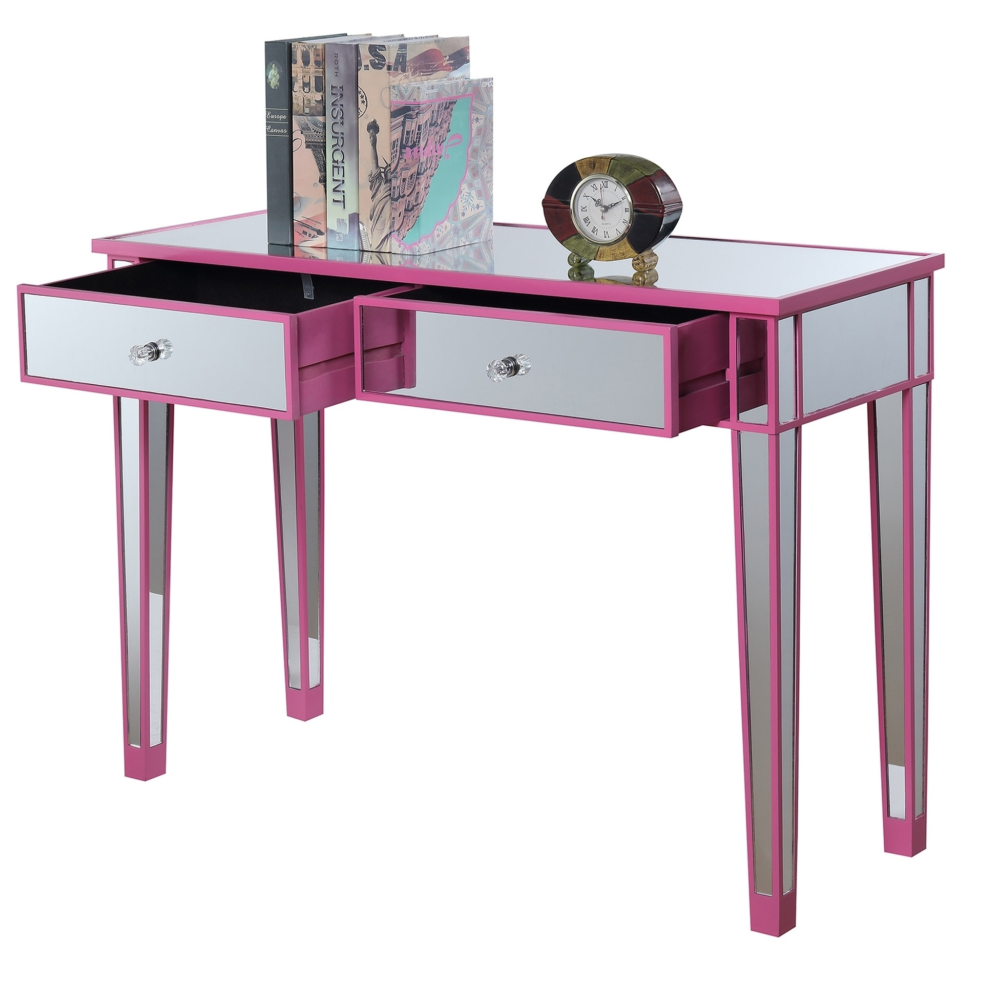 Maison Rouge Chopin Mirrored Desk Vanity  Free Shipping Today