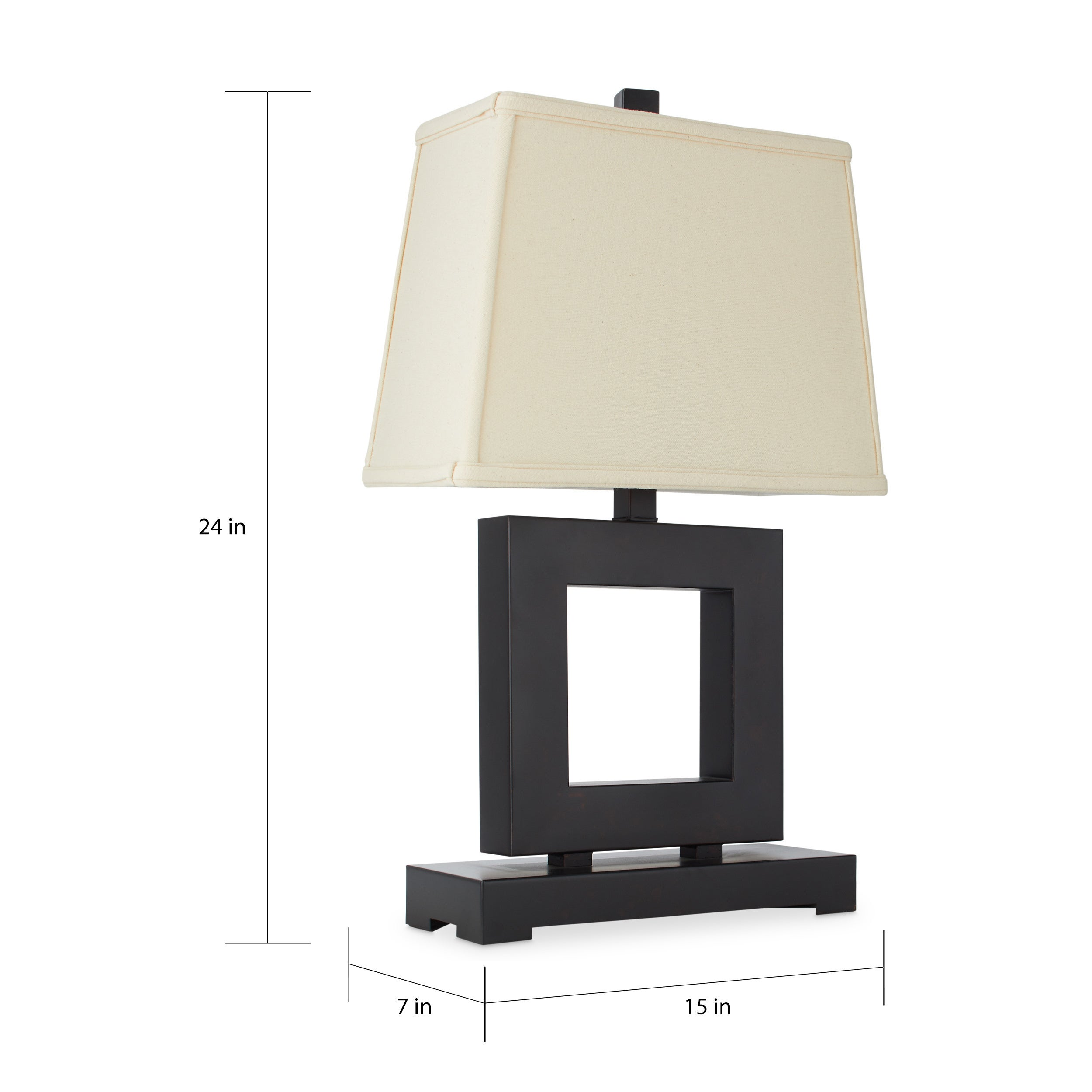 Beautiful Patina/Bronze Metal Square Table Lamp   Free Shipping Today   Overstock.com    10357805