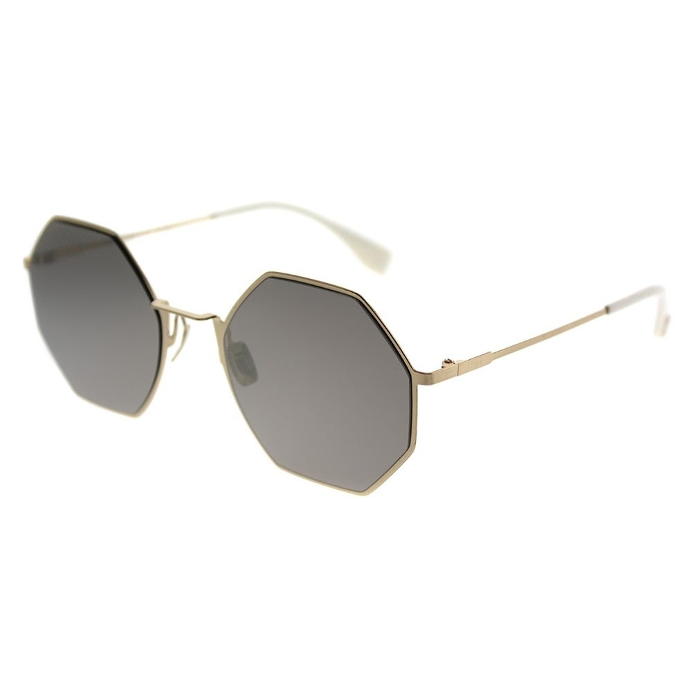62a7dc01f9 Fendi Round FF 0292 Eyeline J5G UE Unisex Gold Frame Gold Mirror Lens  Sunglasses